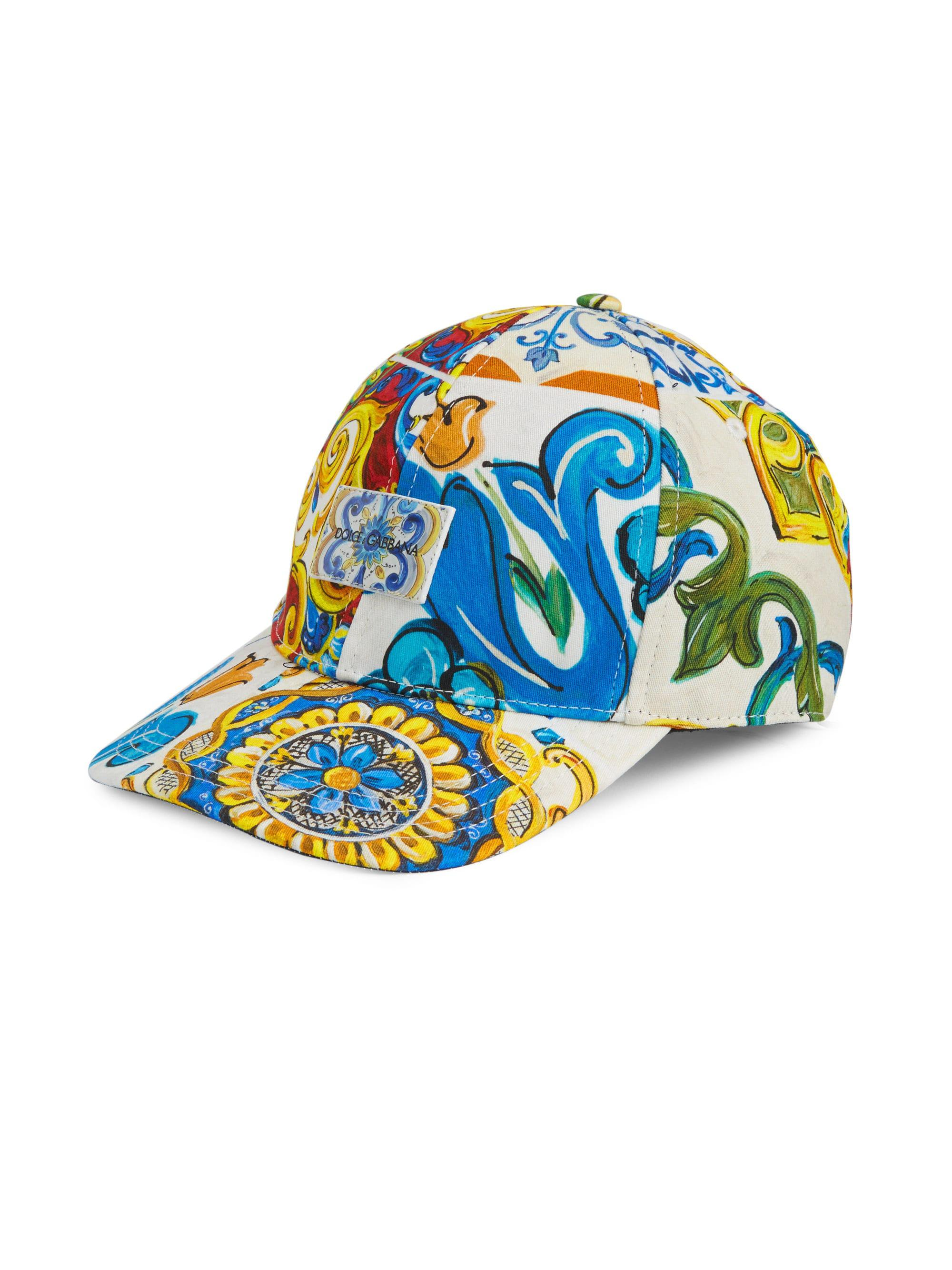 4e7b5e30876 Lyst - Dolce   Gabbana Maiolica Printed Baseball Cap in Blue for Men