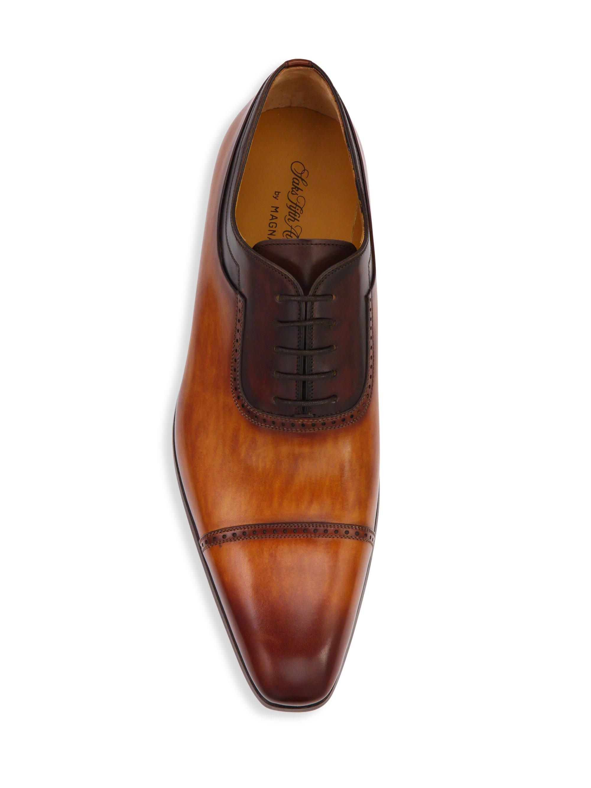 Saks Fifth AvenueCOLLECTION BY MAGNANNI Two-Tone Leather Cap-Toe Oxfords ANVoLa