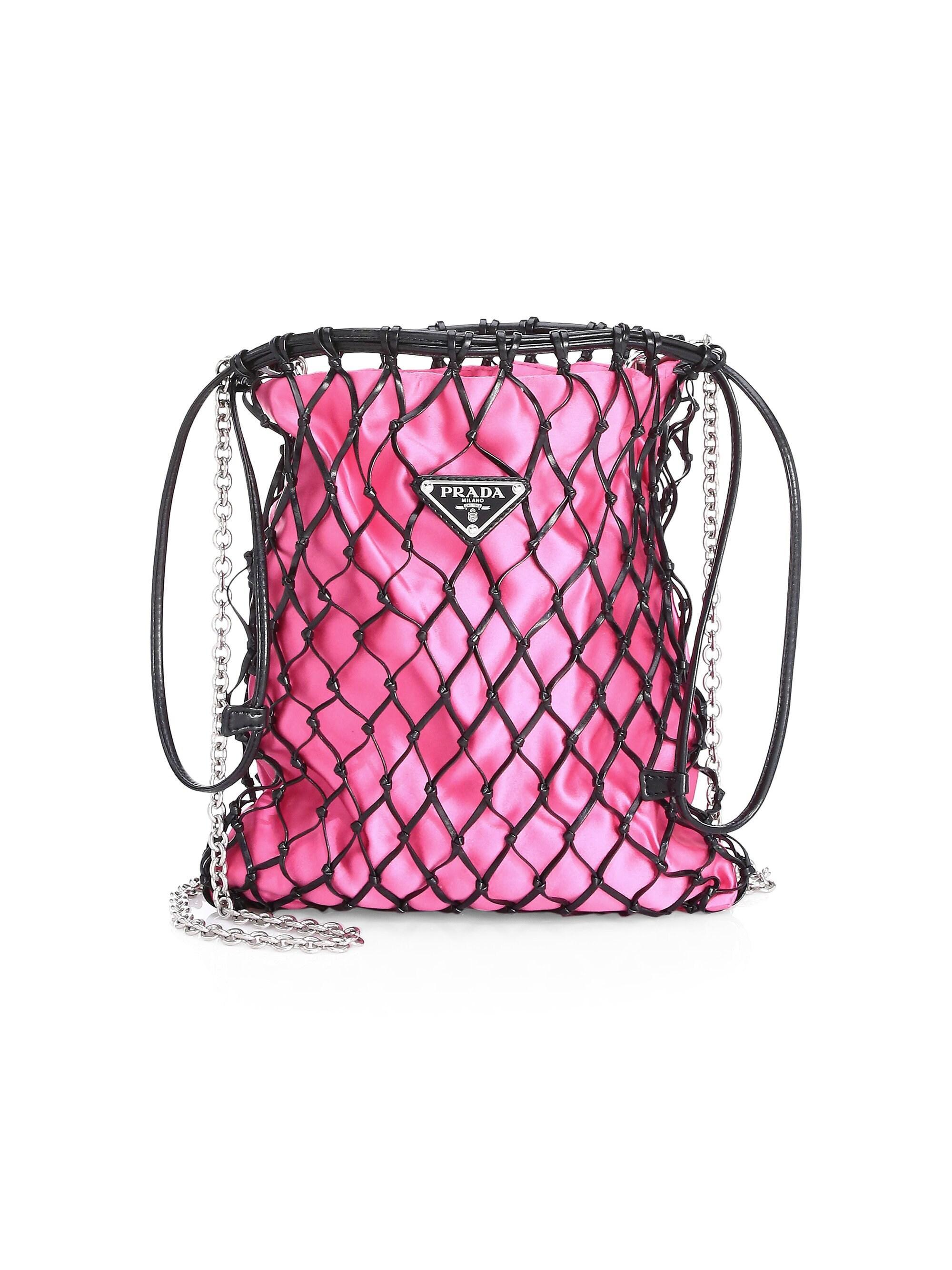 3d154e5a230f Prada. Pink Women's Silk Net Bag - Orange. Track. $895. From Saks Fifth  Avenue