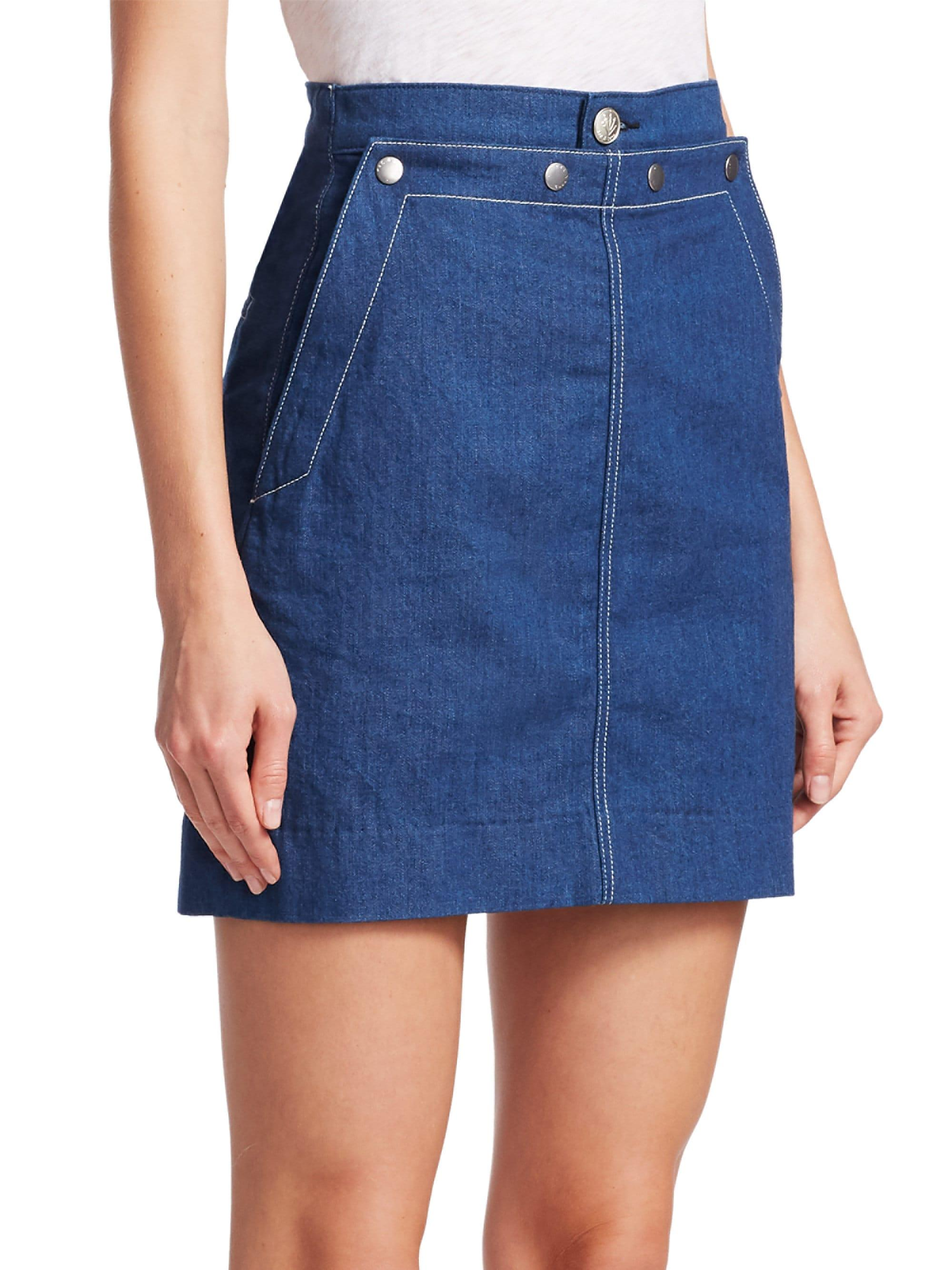 ba6d48eb0 Rag & Bone Sidney Denim Sailor Skirt in Blue - Lyst