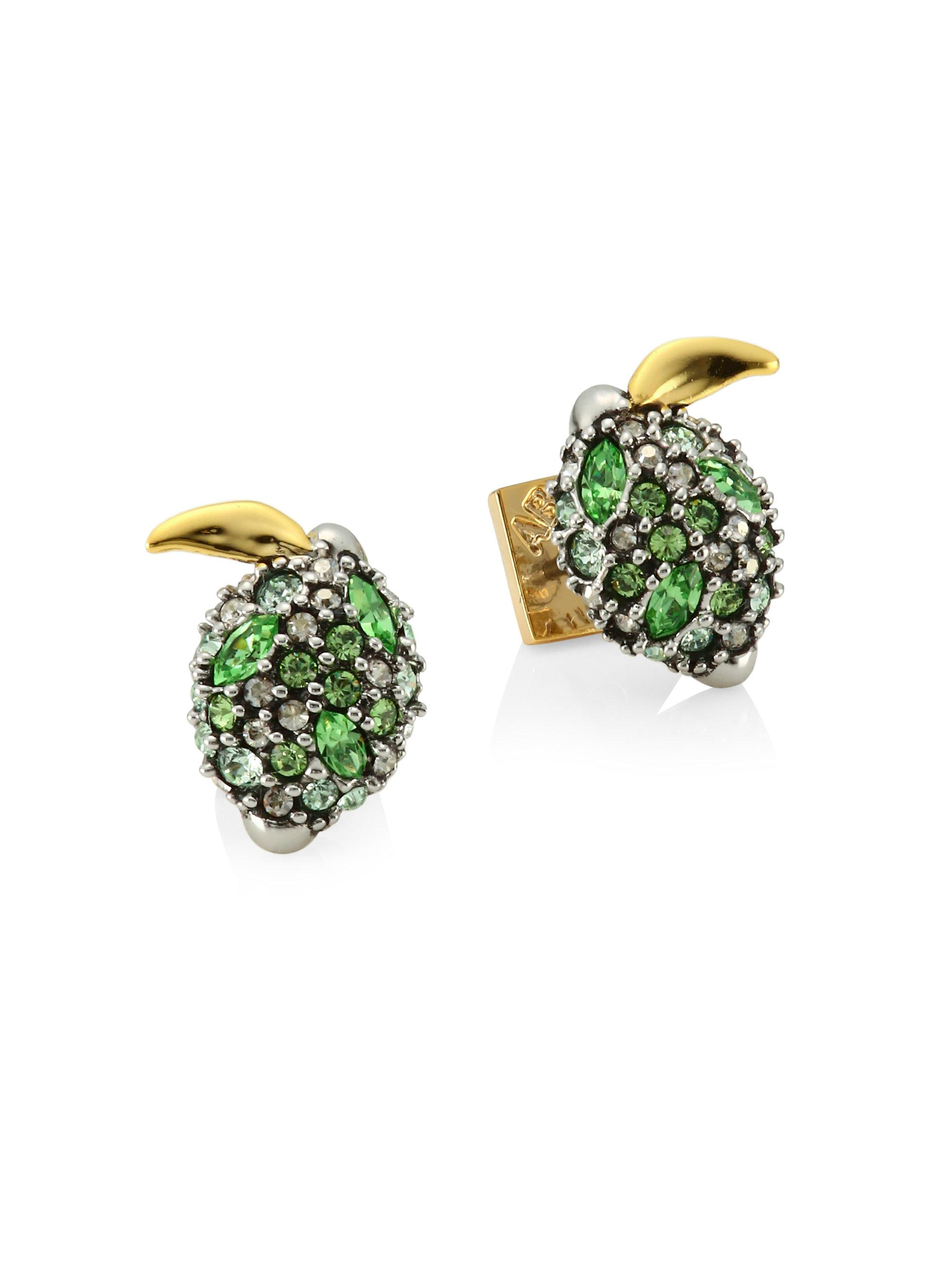 Alexis Bittar Crystal Encrusted Lime Post Earring p3OOI8rqQ