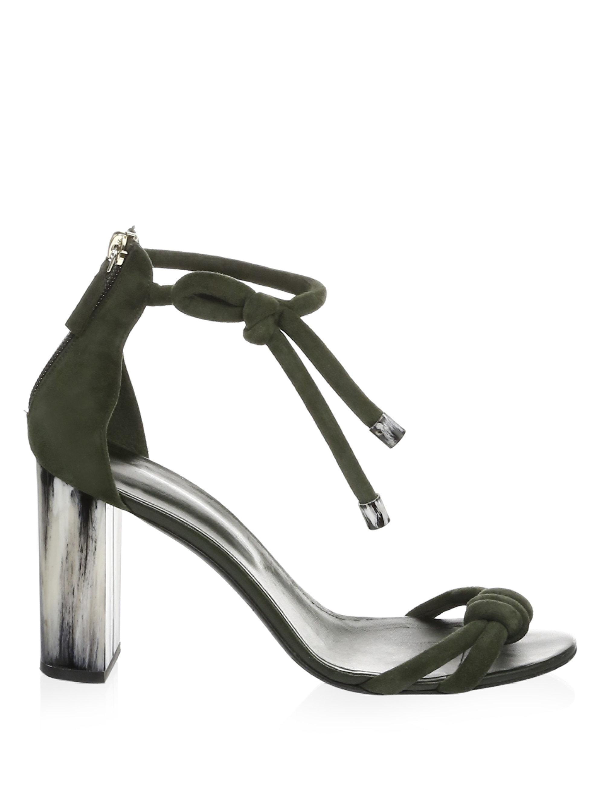 Oscar de la Renta Leather Ankle-Strap Sandals kX6N9DvC