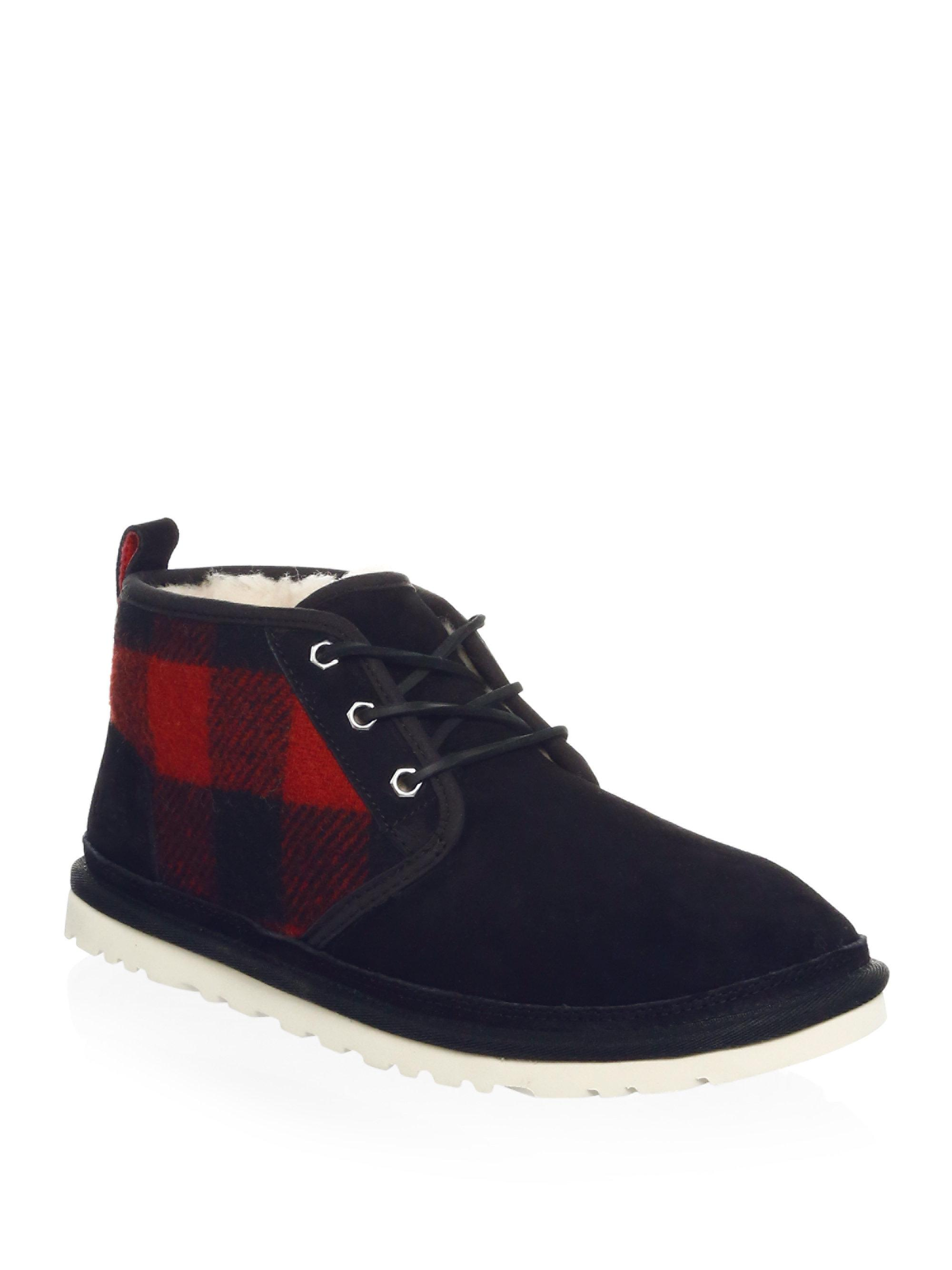 UGG Neumel Plaid Ankle Boots