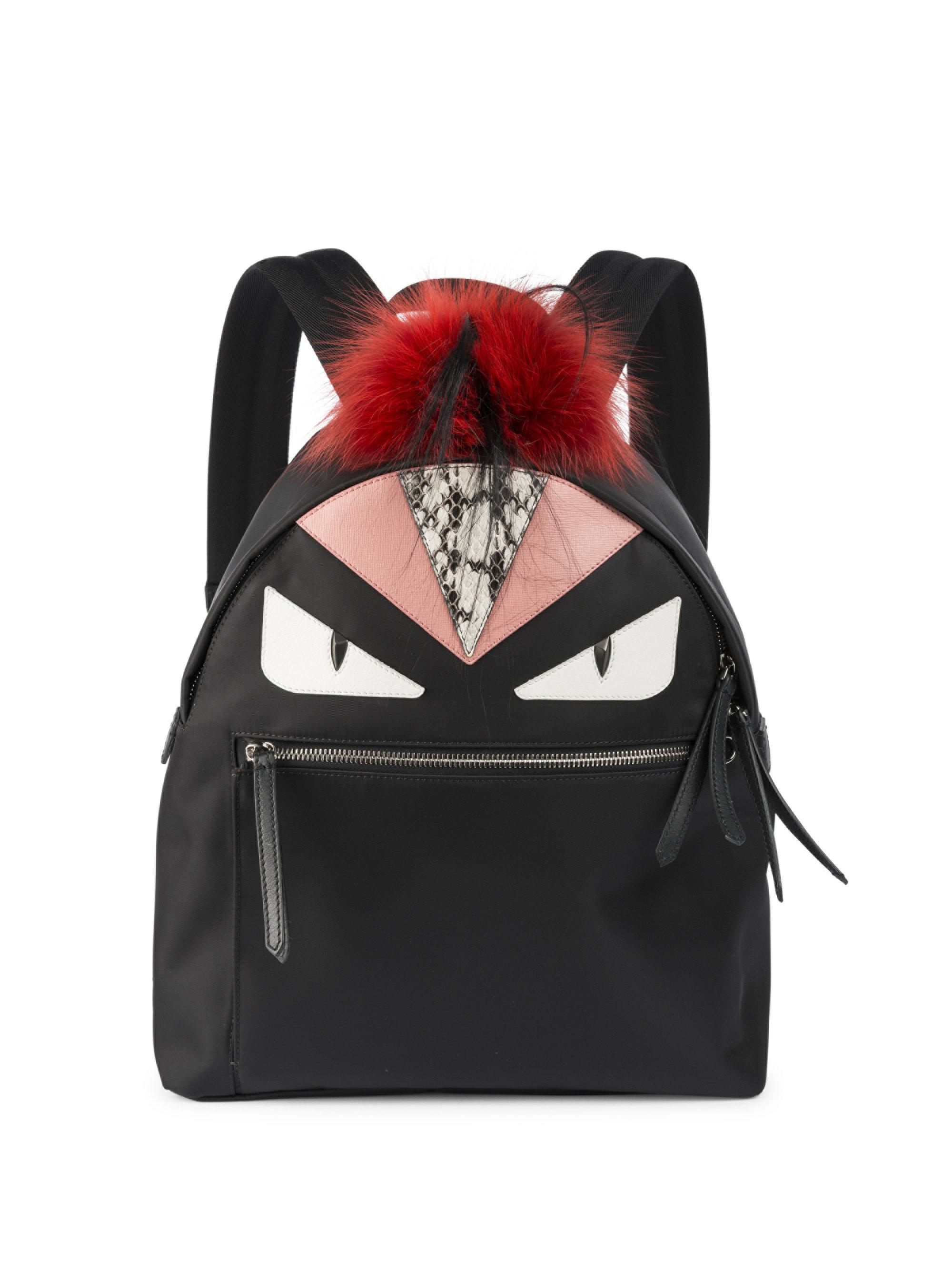 Lyst - Fendi Mini Bag Bugs Backpack in Black - Save 52% c7735f832a815