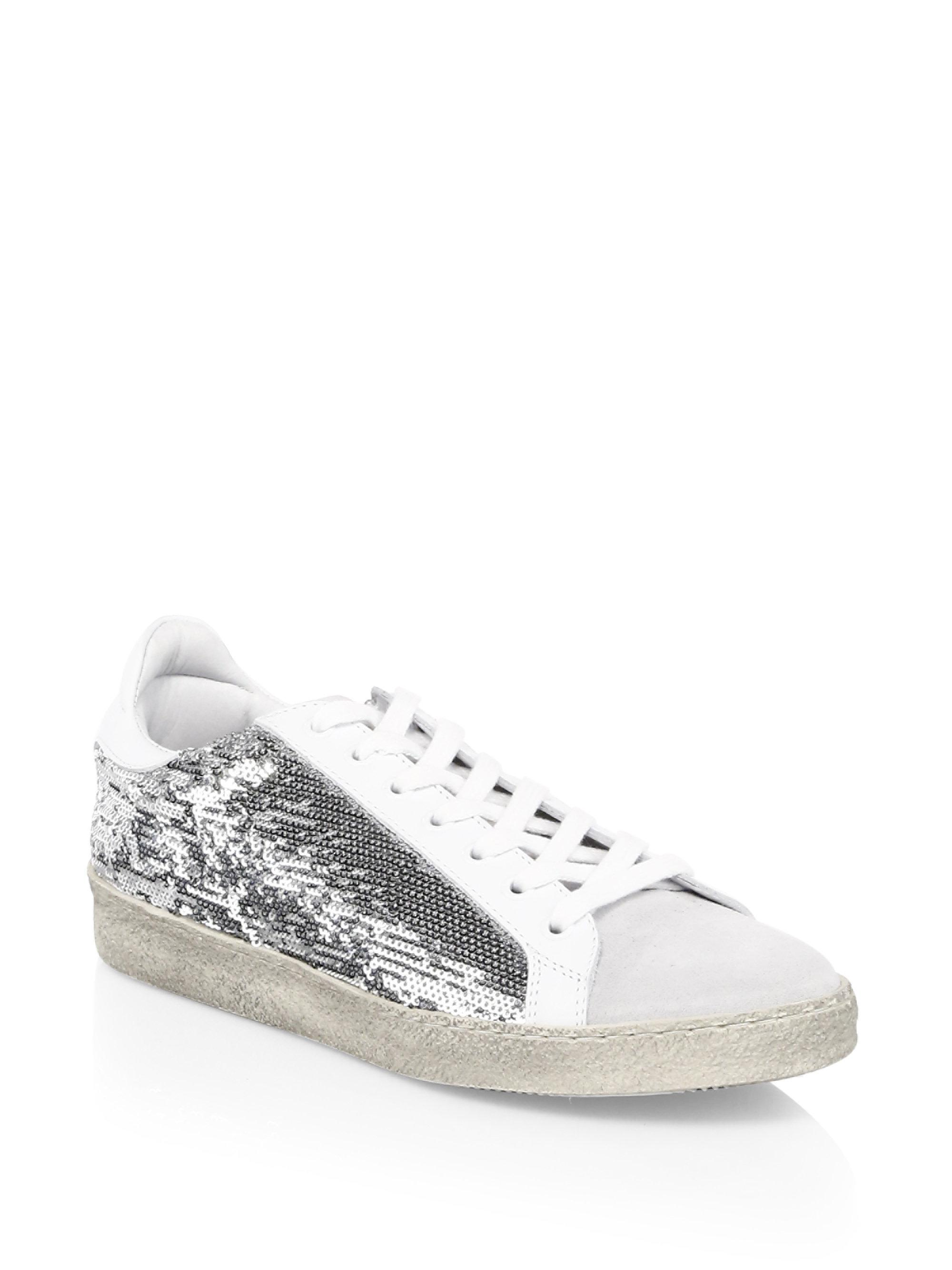 sequin panel Barthyno sneakers - Grey Iro 1K6a1q