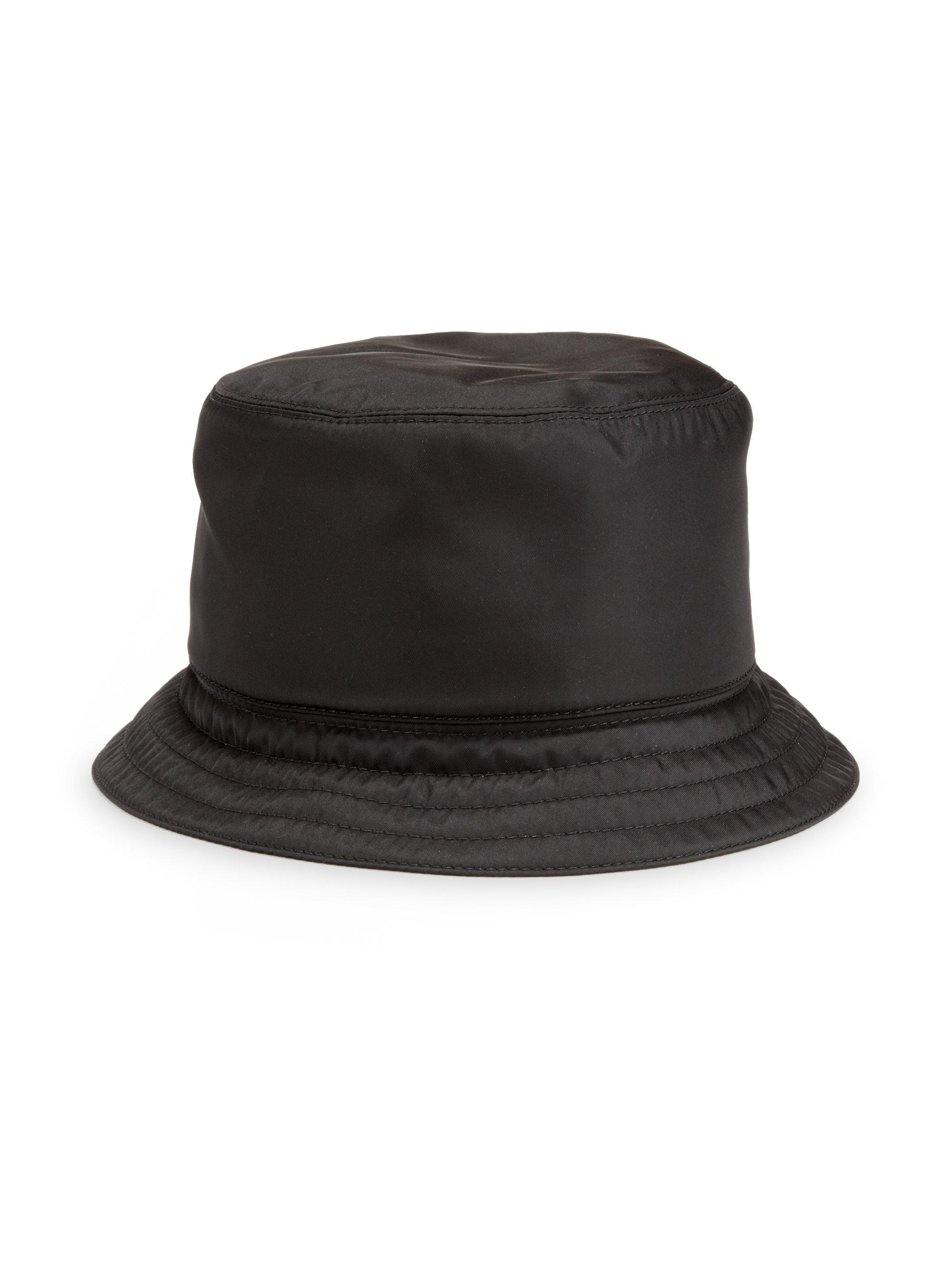 f220f32ae7a Lyst - Prada Nylon Bucket Hat in Black for Men