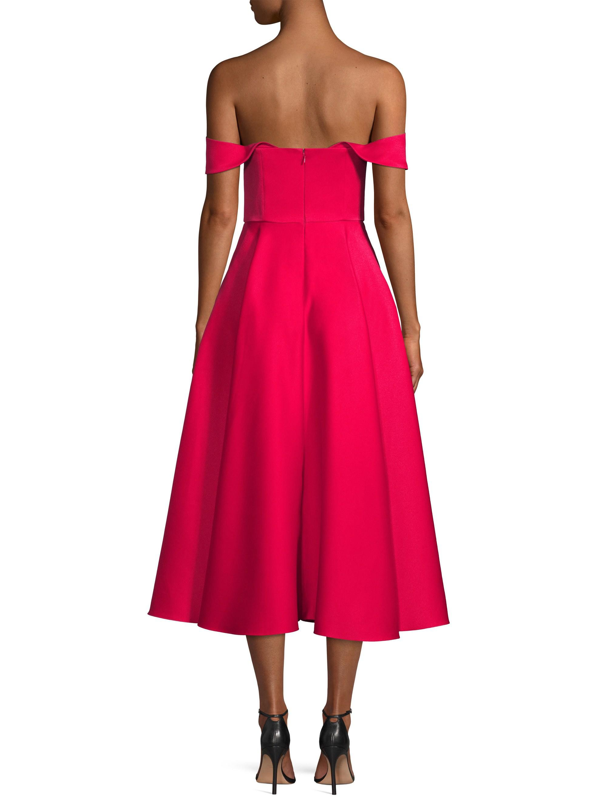 5ef79308896ad Jay Godfrey Charlie Off-the-shoulder Cocktail Dress in Pink - Lyst