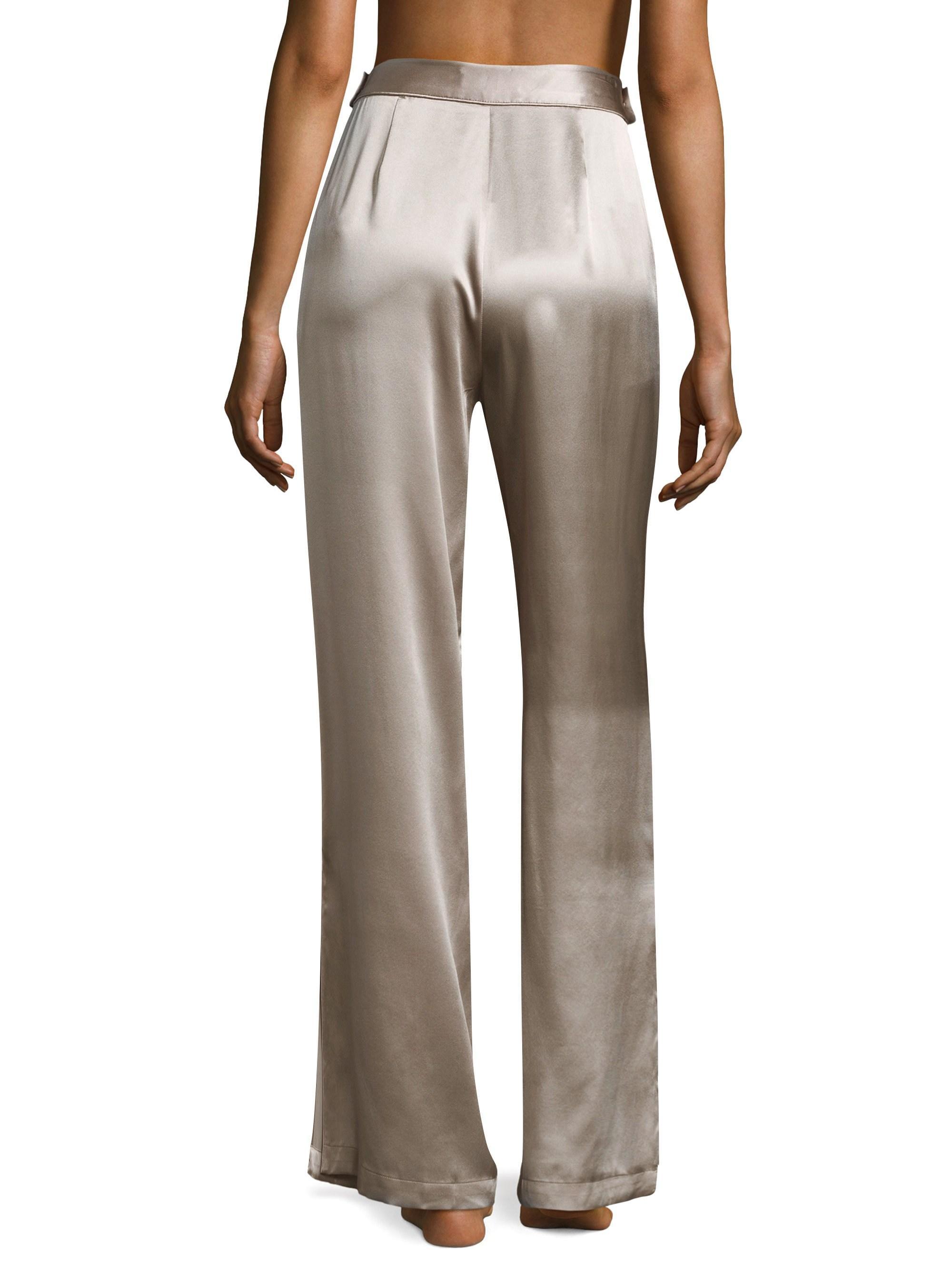 98ef414c2 Fleur du Mal Wide-leg Silk Pants - Lyst