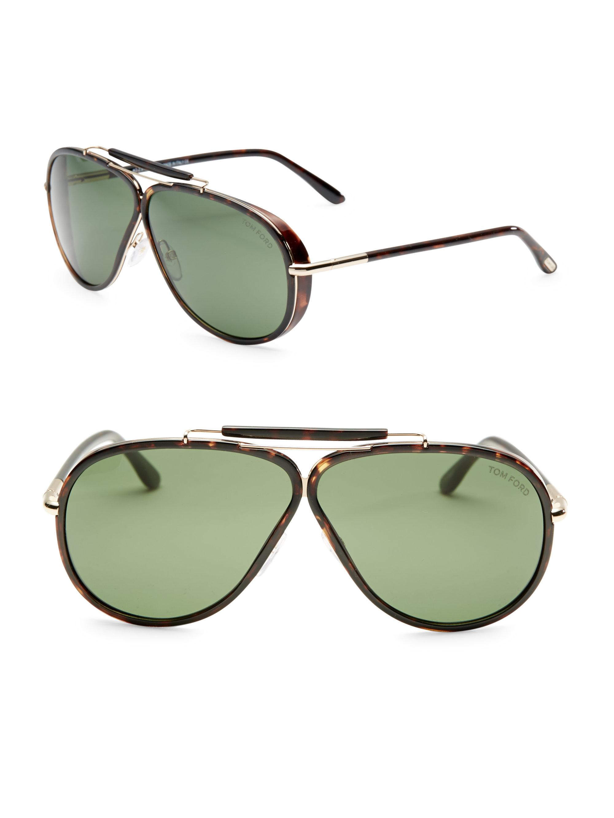 25a5103ff34 Lyst - Tom Ford Cedric 65mm Oversize Pilot Sunglasses for Men