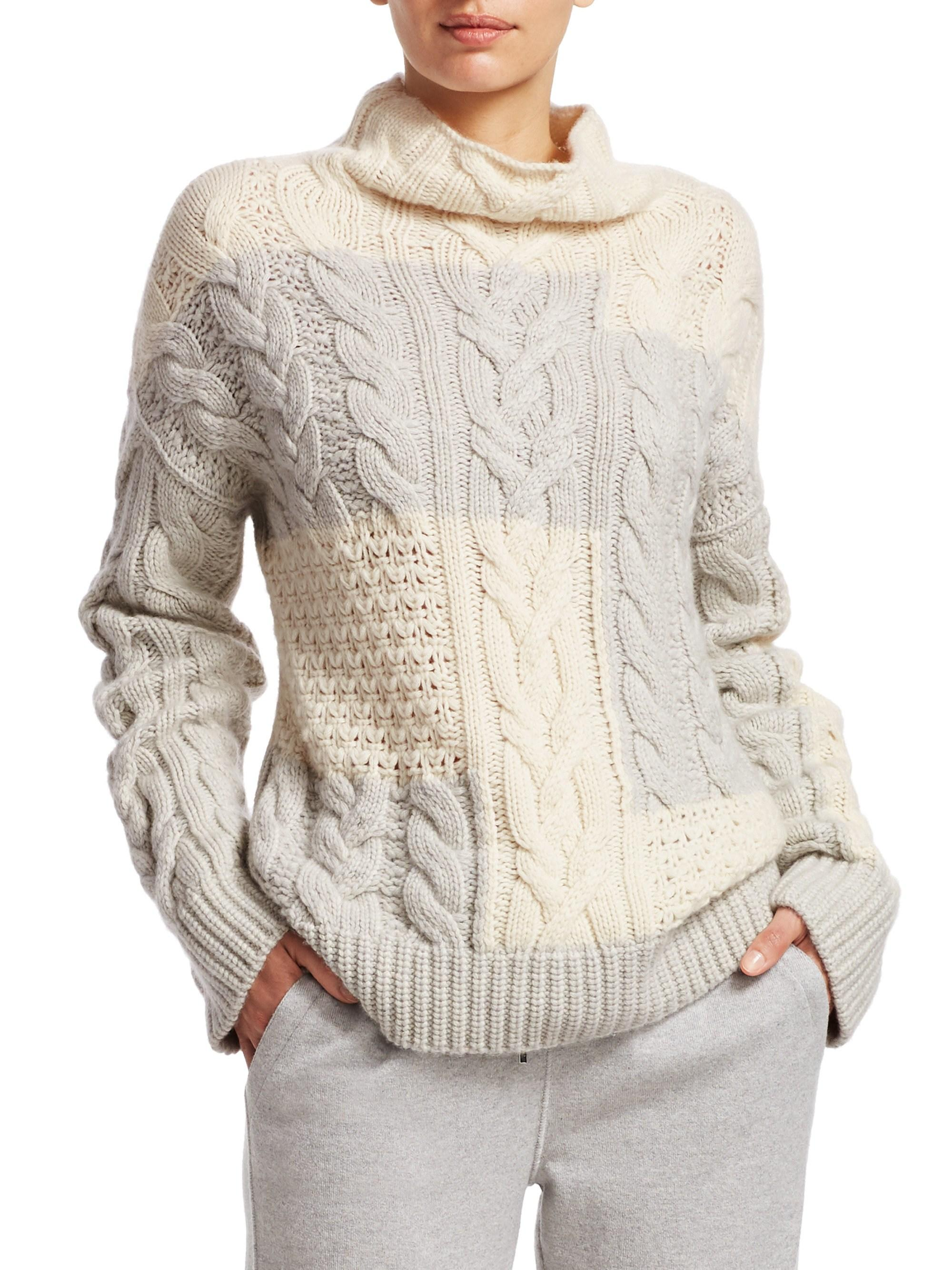 d6927a5d3d2b Lyst - Loro Piana Women s Baby Cashmere Cabled Sweater - White Snow ...