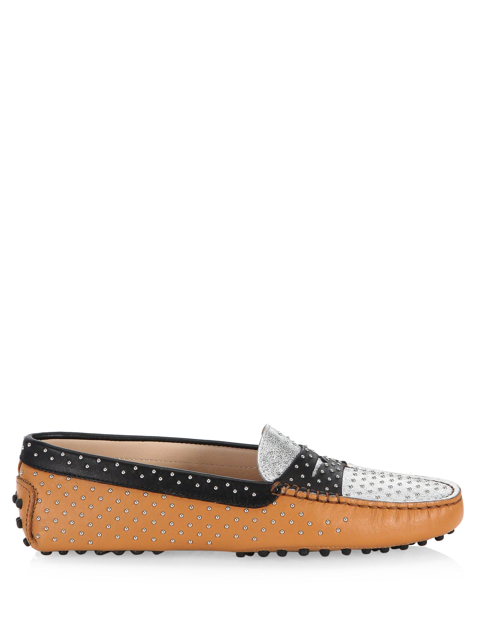 Tod's GOMMINO MICRO STUDS LEATHER LOAFERS QdfboH