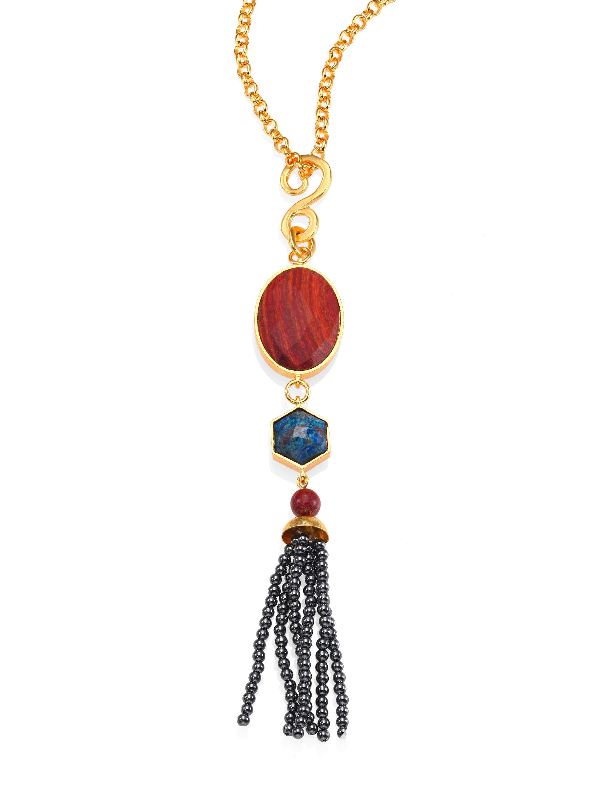 winkel long marrakech beekmans en necklace with pendant red all gold jewelry ellen