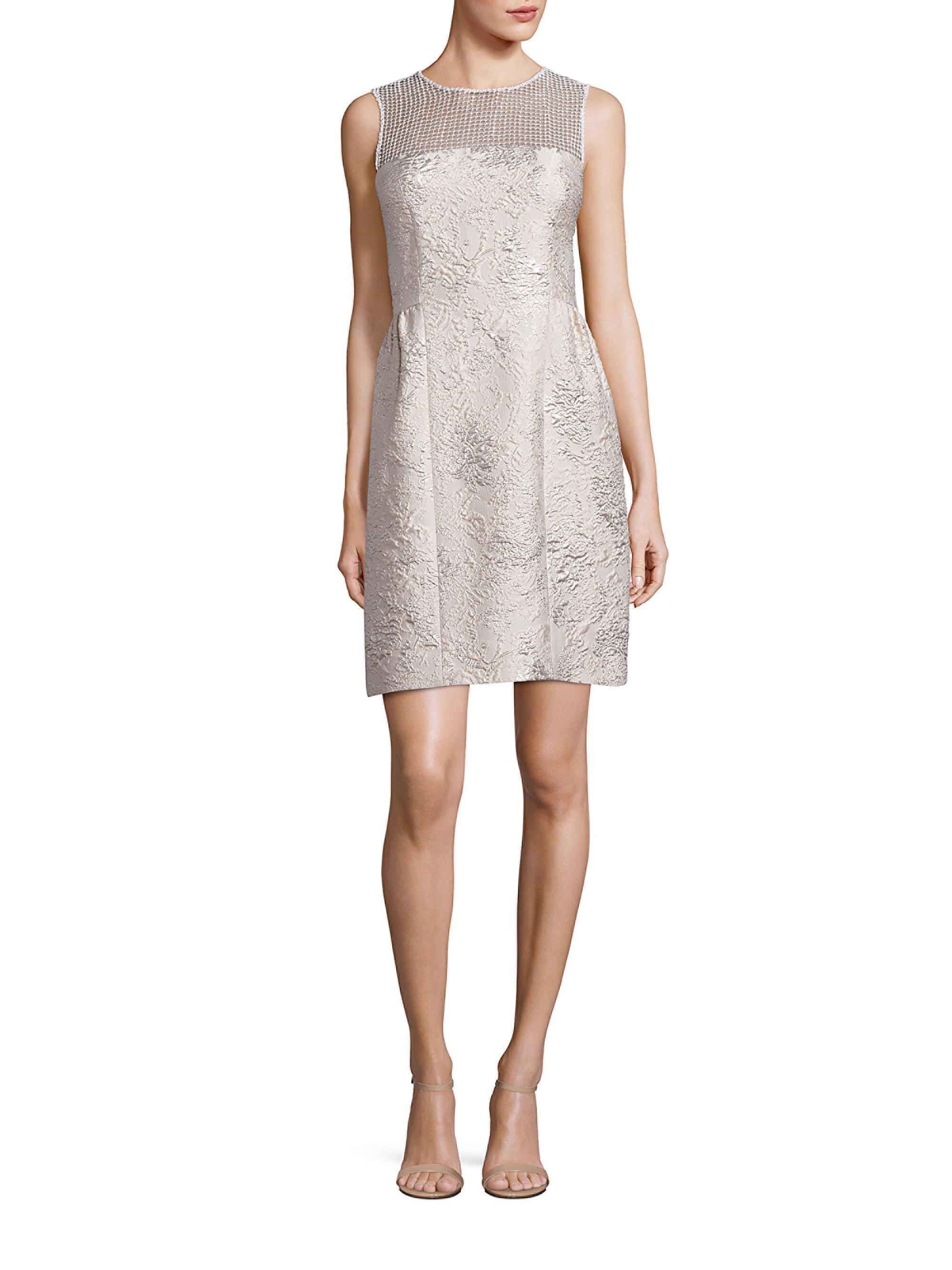 df64b99f50d75 Lyst - Elie Tahari Winny Textured Dress in Metallic