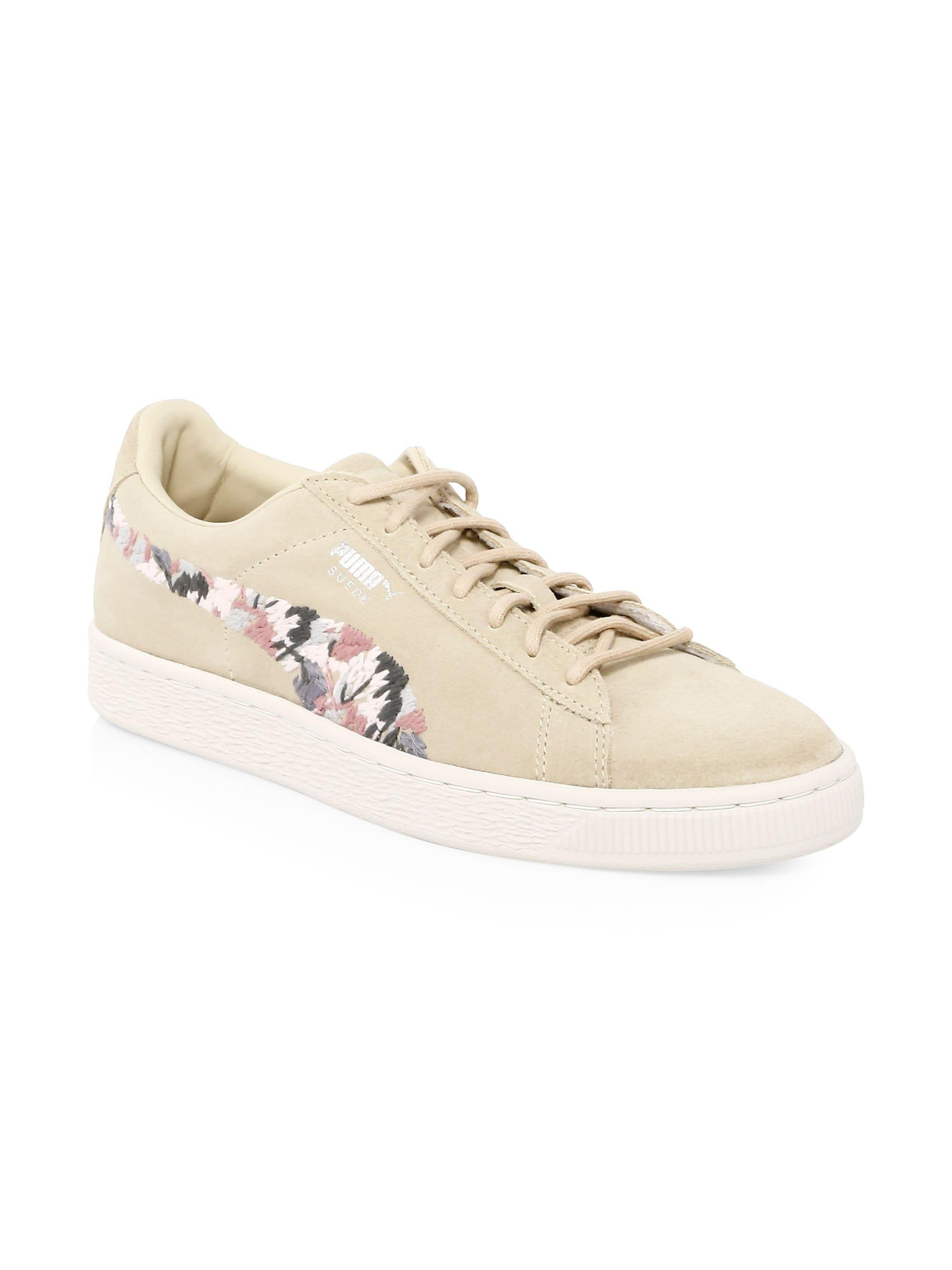 more photos 4f0b7 8ca69 PUMA - Natural Suede Sunfade Sneakers - Lyst