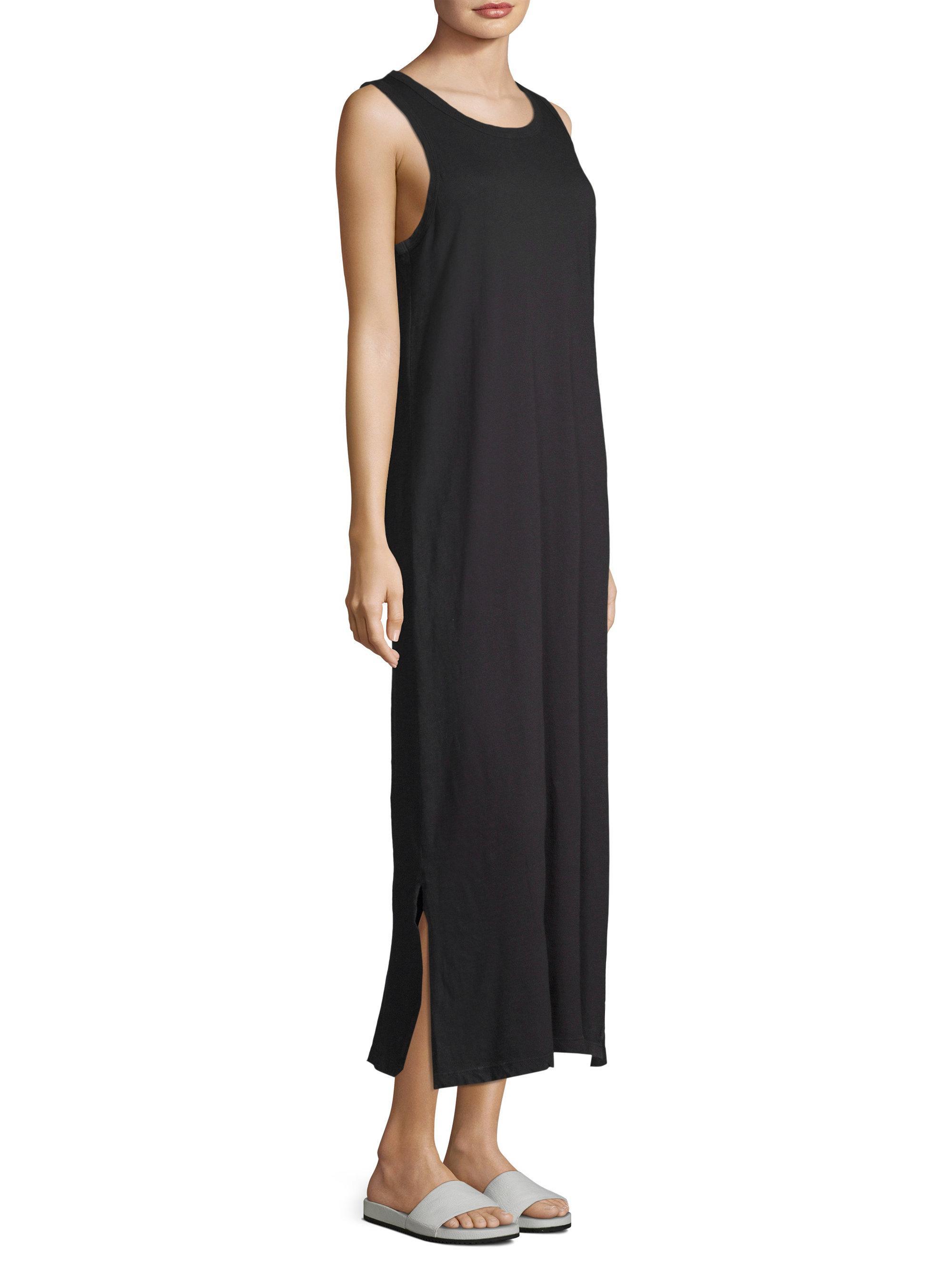 0bda5f0088efa8 Current Elliott The Perfect Muscle Tank Dress in Black - Lyst