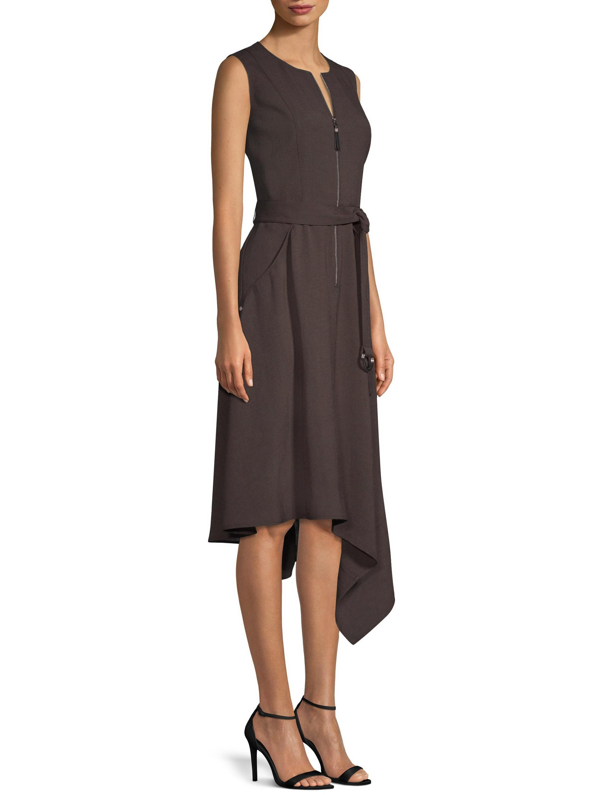 9e5dacd9f0f4 Lafayette 148 New York Women's Ripley Asymmetric A-line Dress - Ash ...