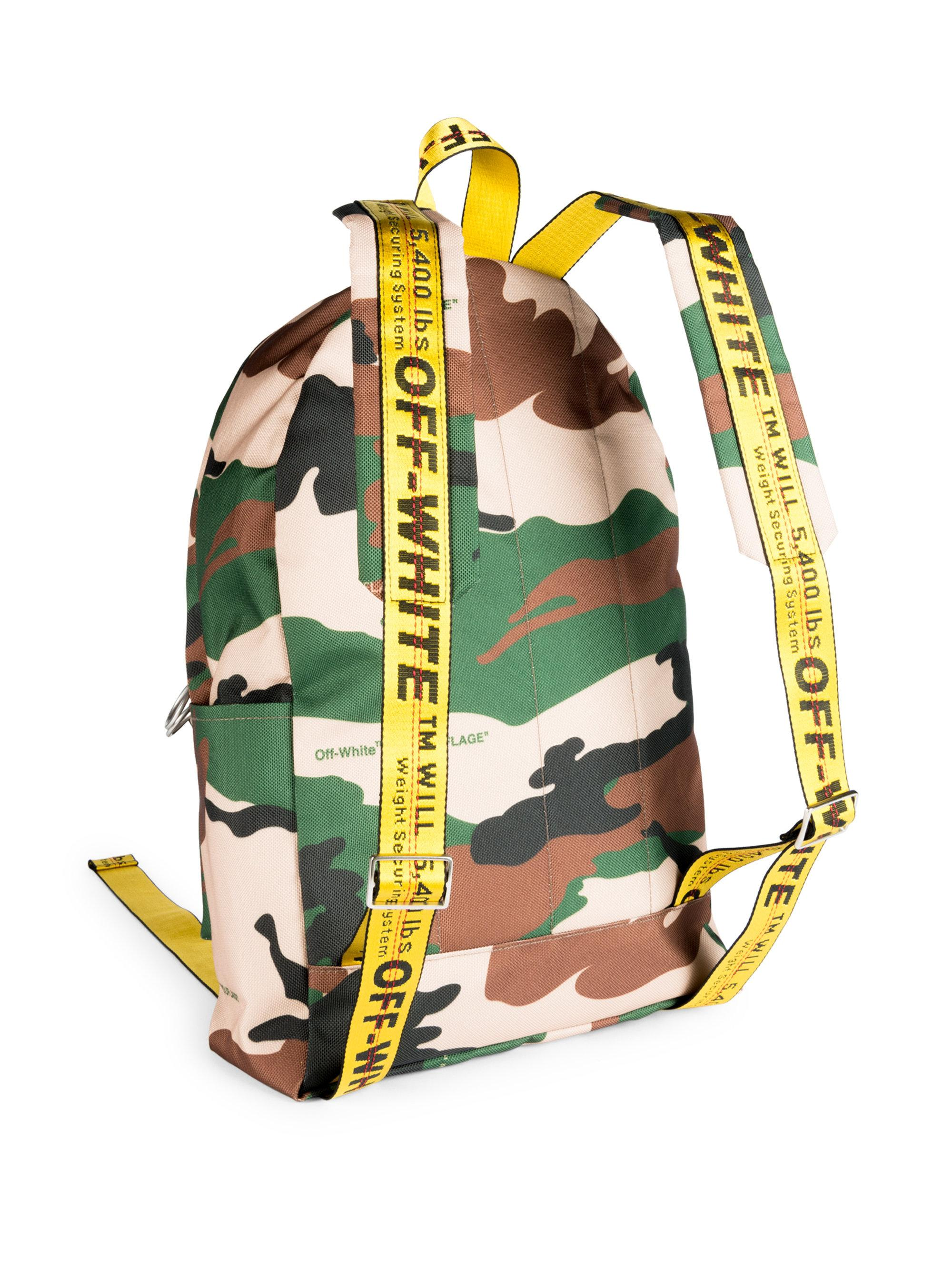 1814ed0b571f Off-White c o Virgil Abloh Camouflage Textured Backpack in Green for ...