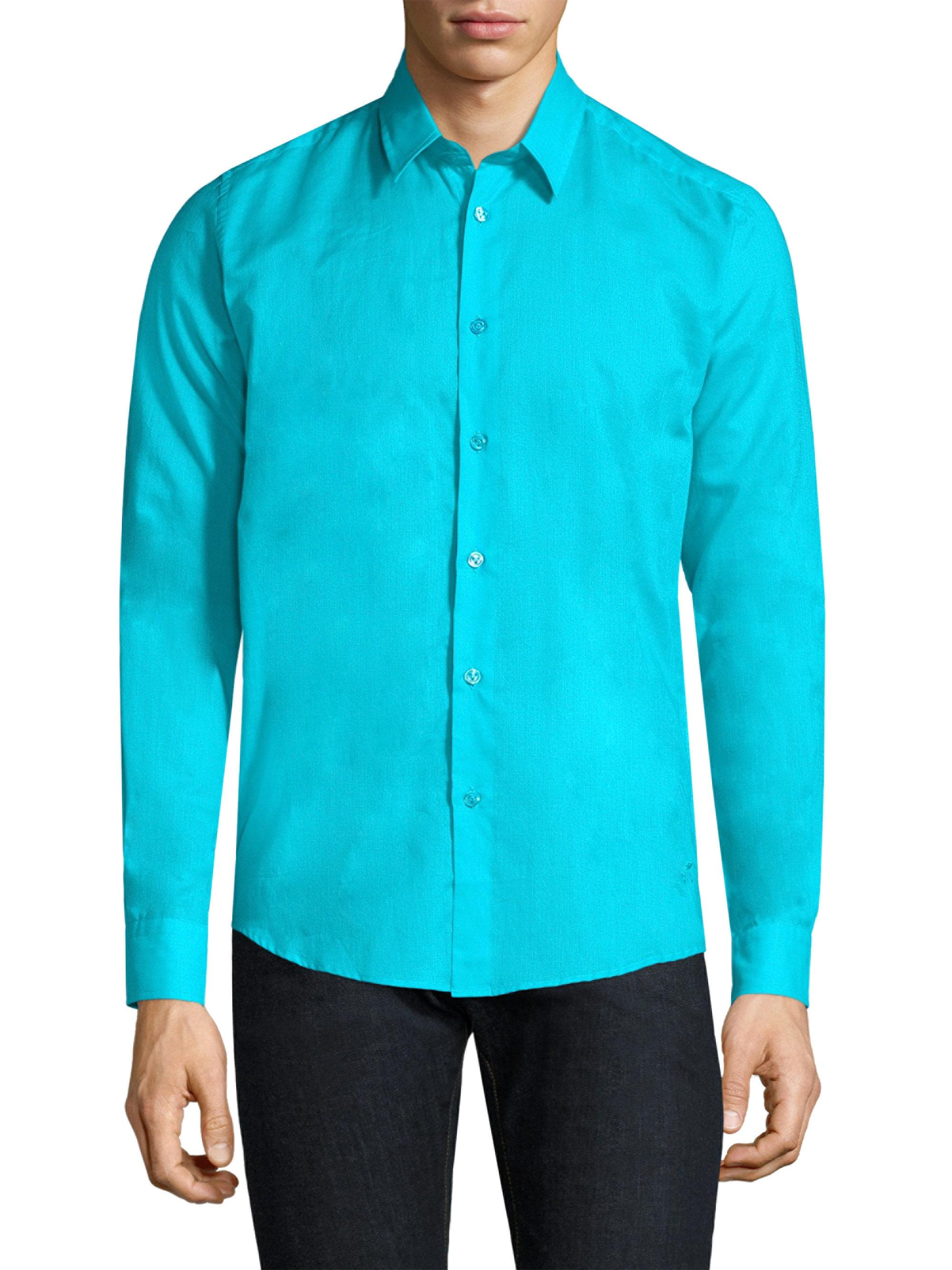 Lyst vilebrequin classic cotton button down shirt in for Preppy button down shirts