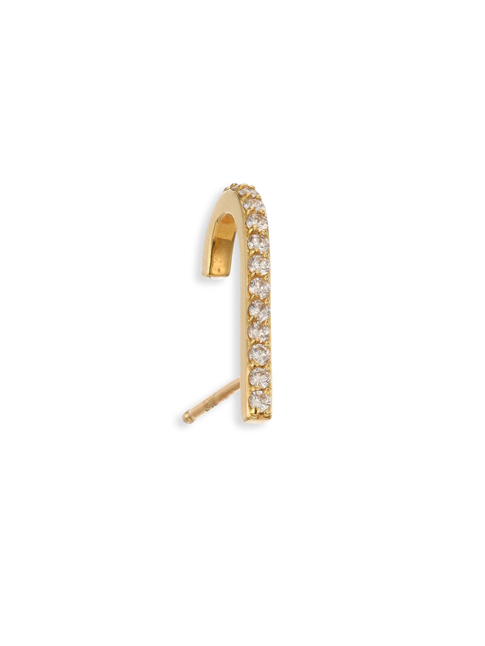 Paige Novick Diamond & Peridot 18k Huggie Stud Earring ViyOcJ