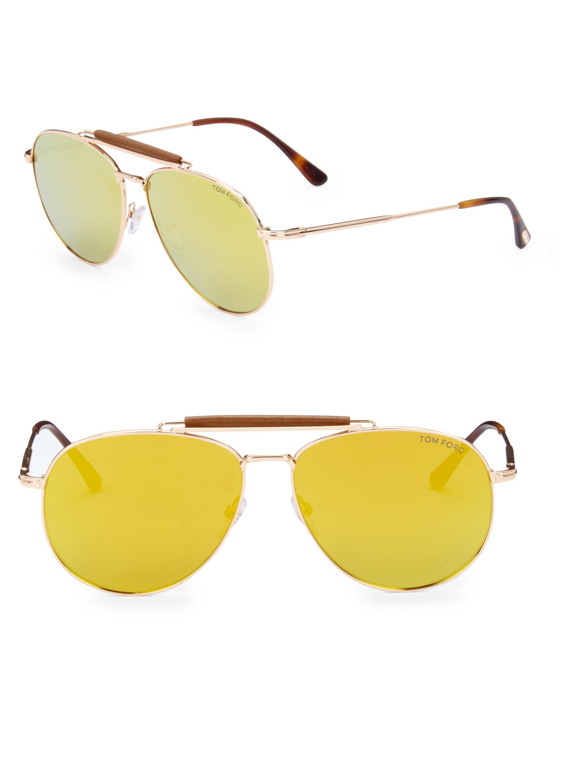 08f71371331 Tom Ford - Metallic Sean 60mm Mirrored Aviator Sunglasses for Men - Lyst.  View fullscreen