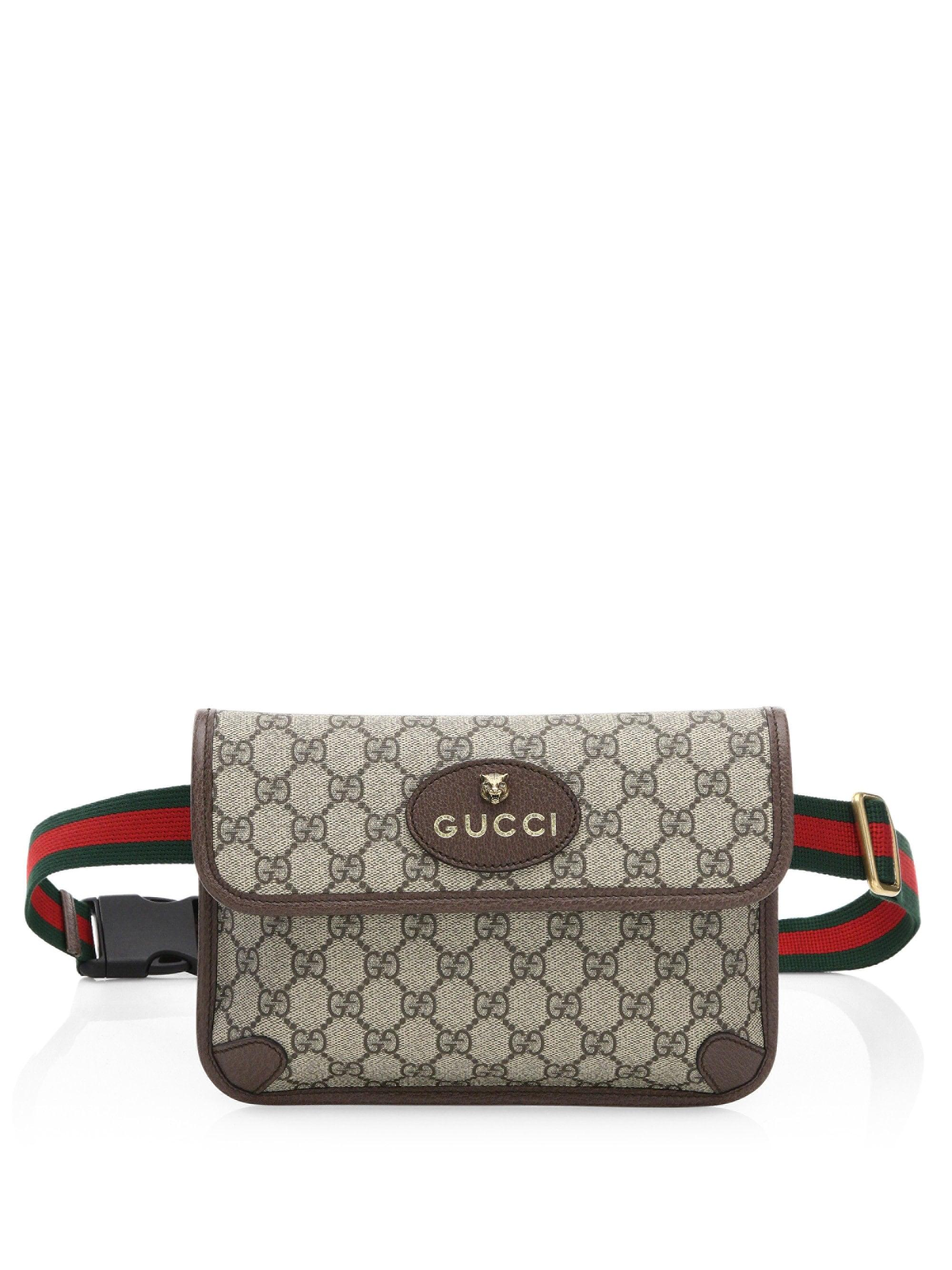 c5b2e97a2382cd Gucci Neo Vintage Canvas Belt Bag in Natural - Lyst