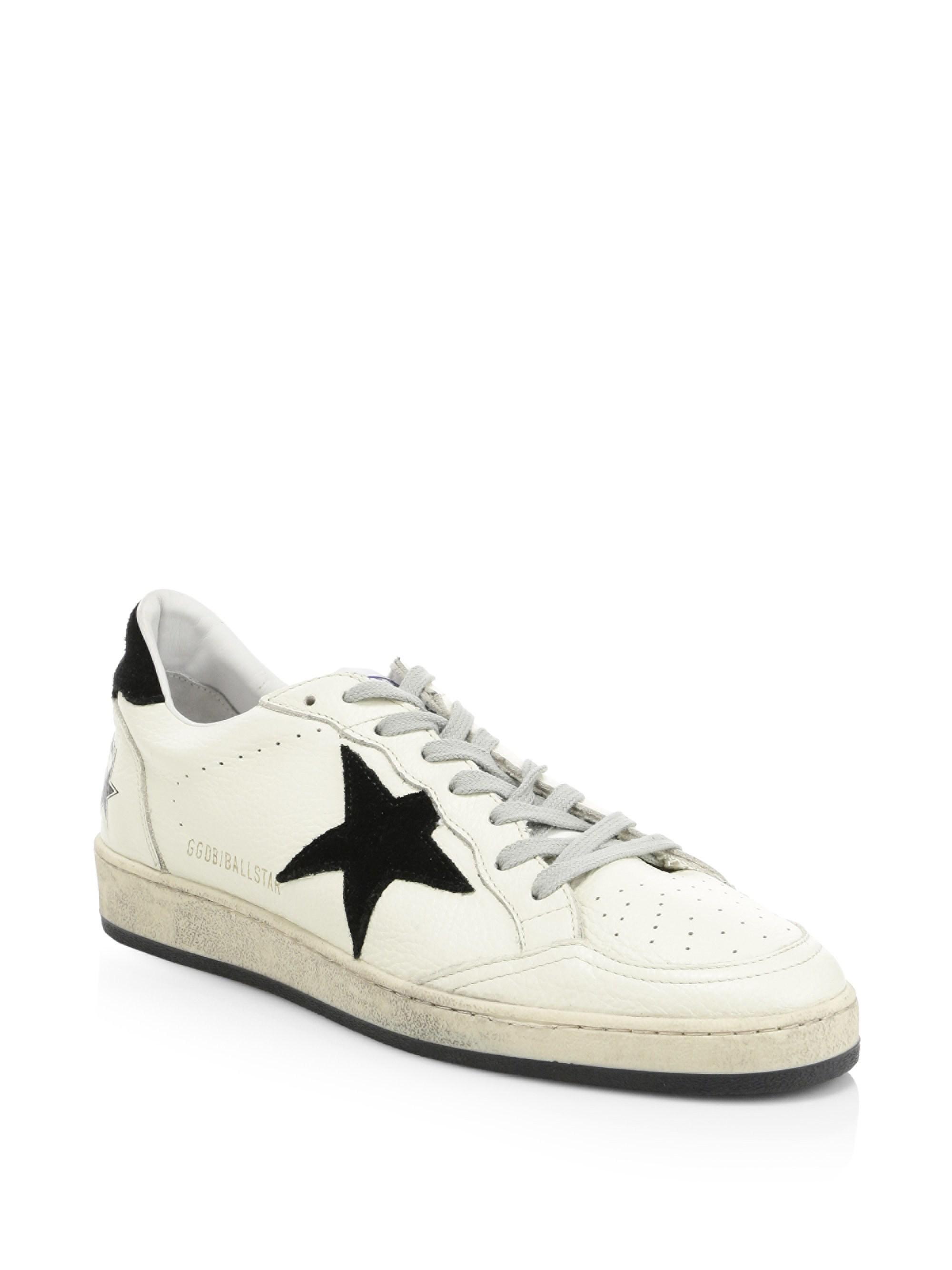 91e6a152b34cf Lyst - Golden Goose Deluxe Brand Ballstar Leather Sneakers for Men