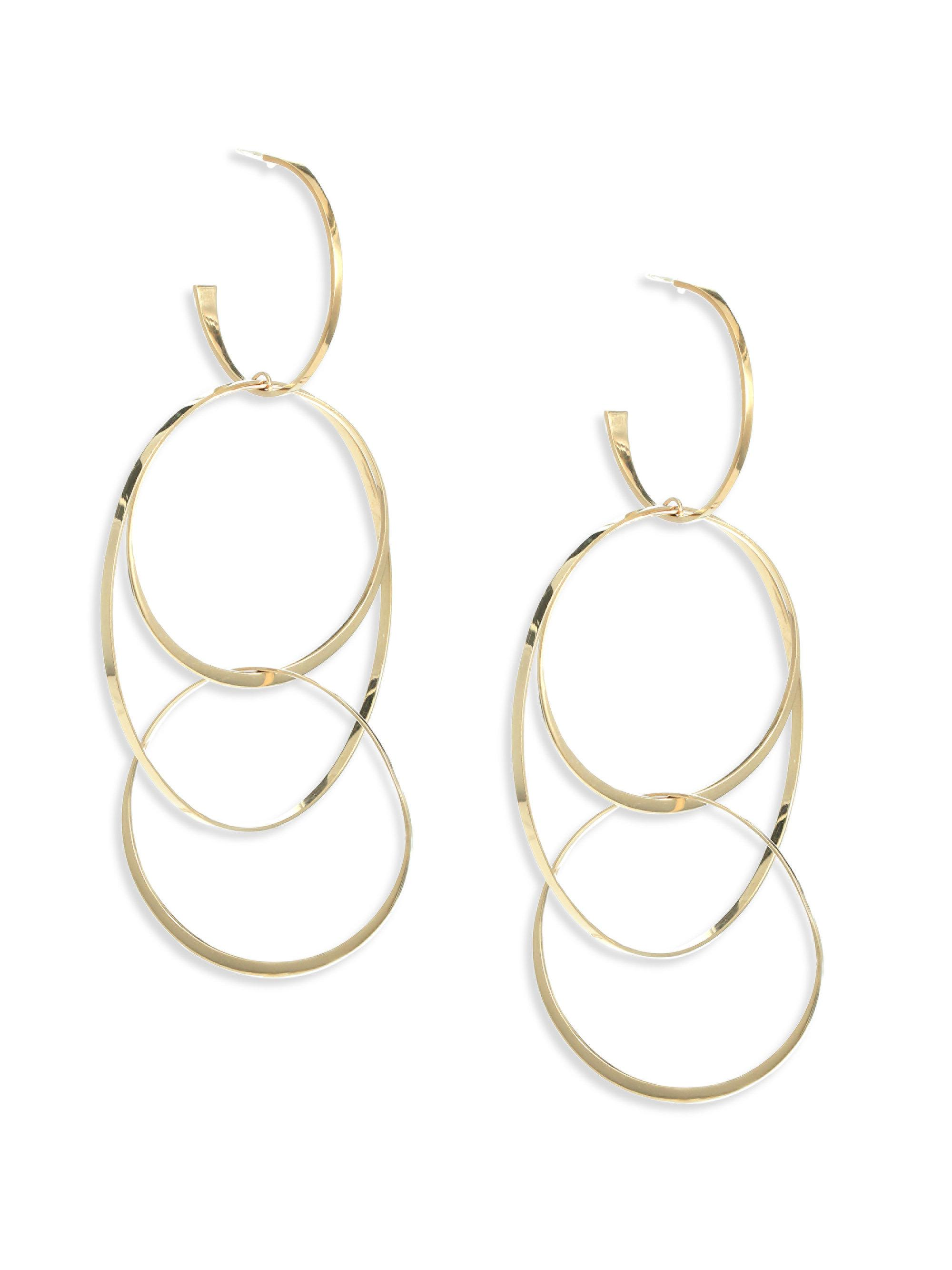 Lana Jewelry 14k Flat Hoop Earrings yz3U87Ug6X