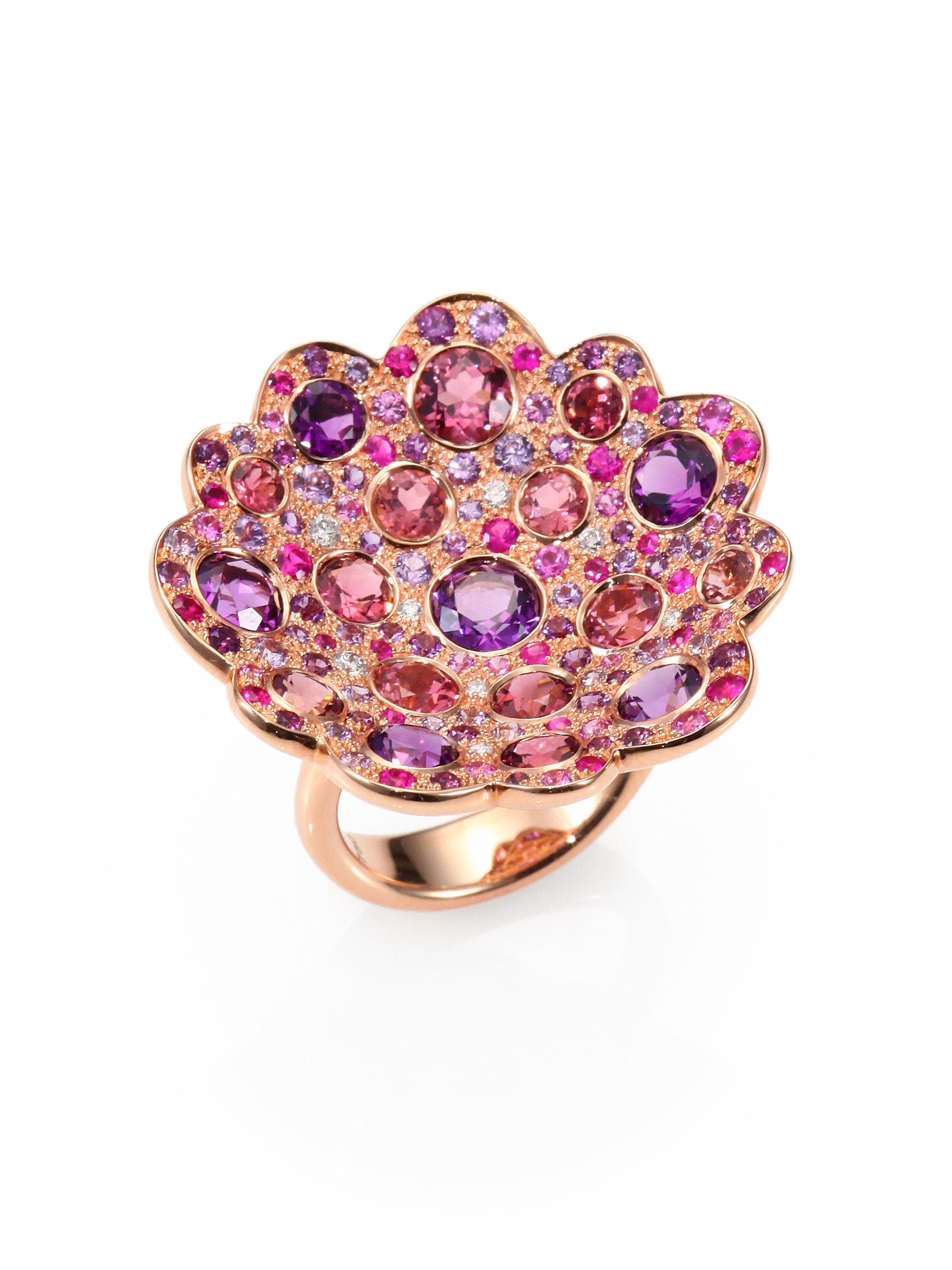 Roberto Coin Fantasia Semi-precious Multi-stone, Diamond & 18k Rose ...