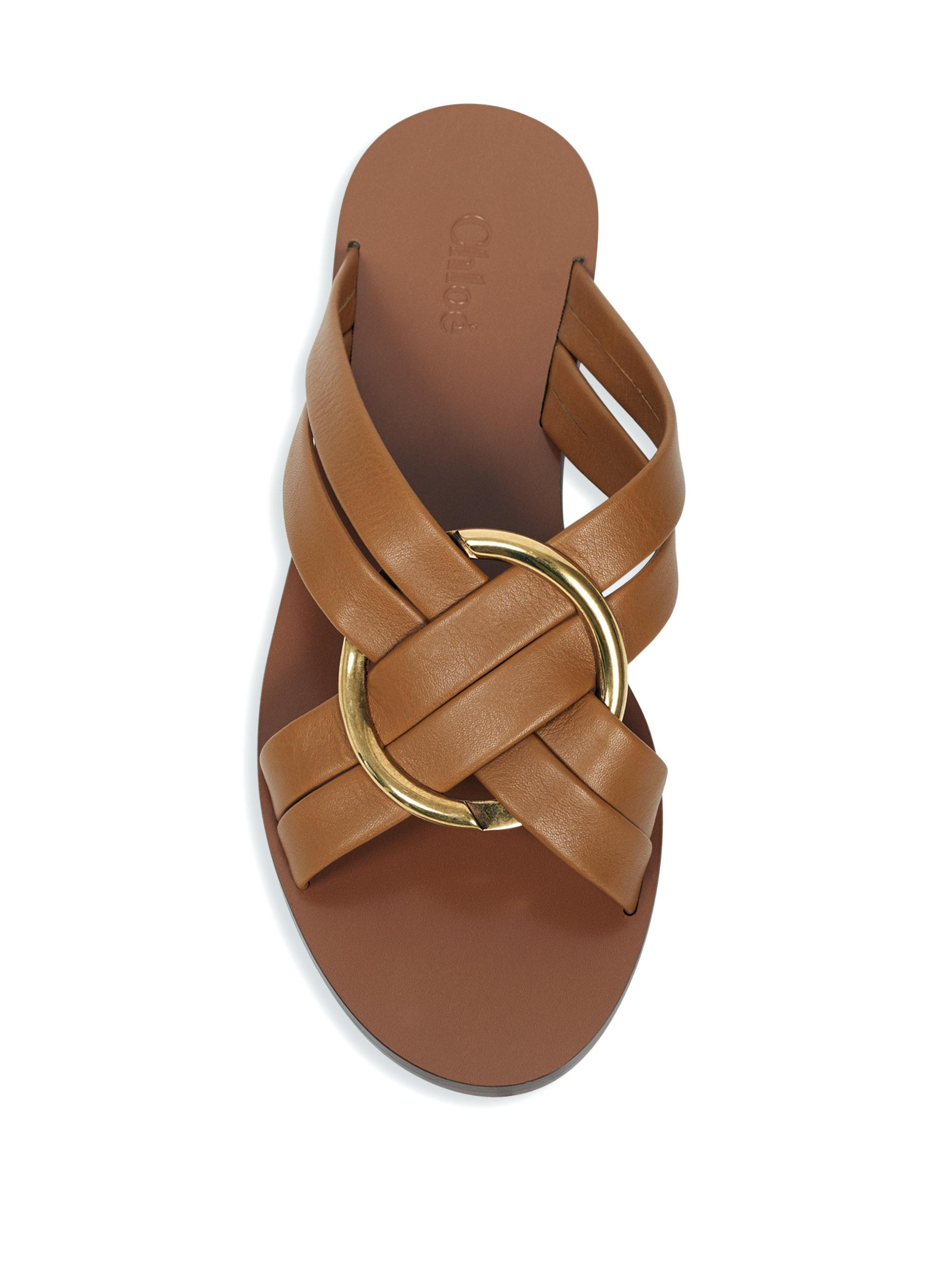 Chloé Rony flat sandals Outlet Manchester Great Sale Cheap Sale Release Dates GUc7lrgKWG