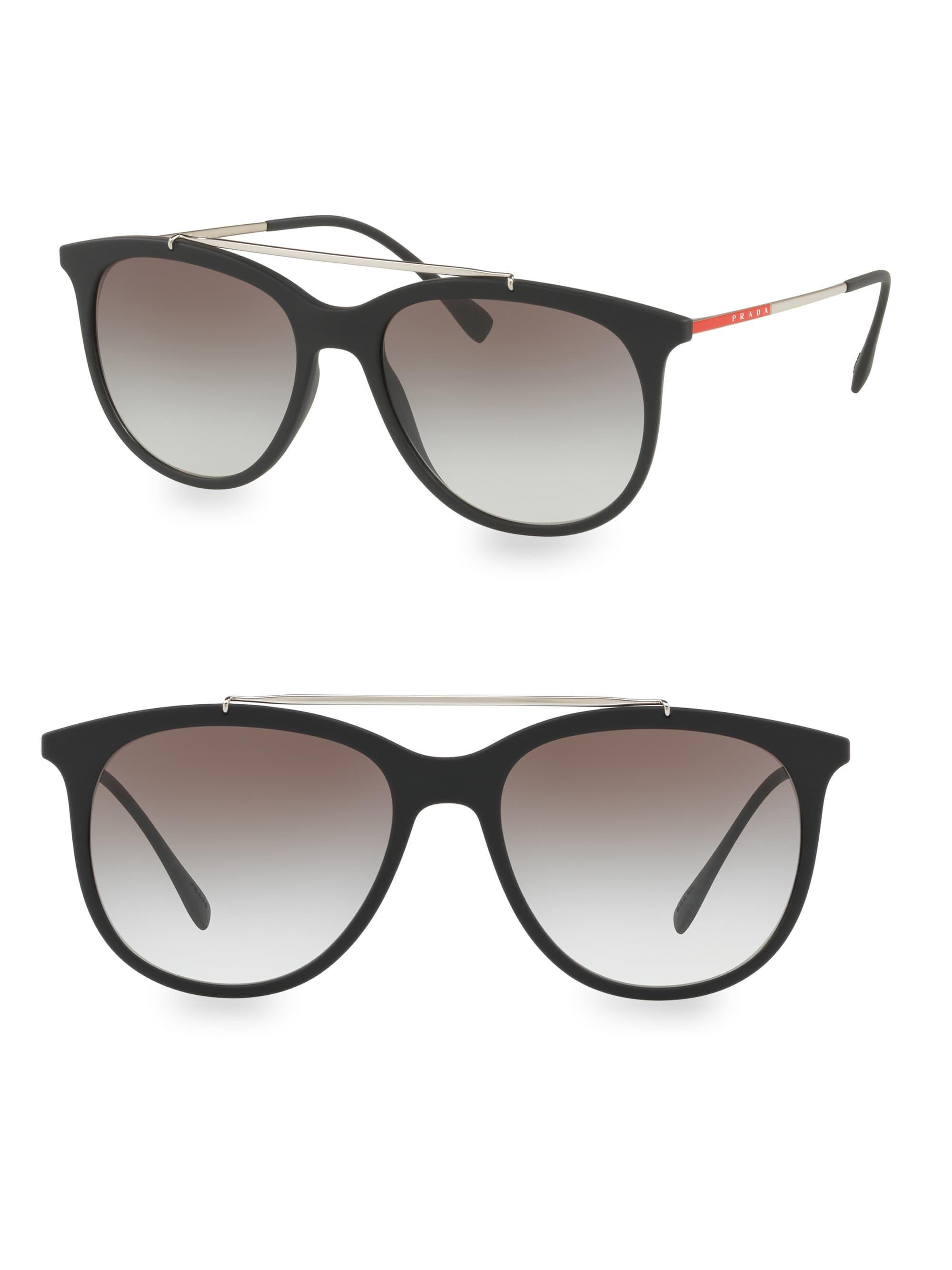 6e0f4847b34cd Prada Linea Rossa 54mm Gradient Matte Black Sunglasses in Black for ...