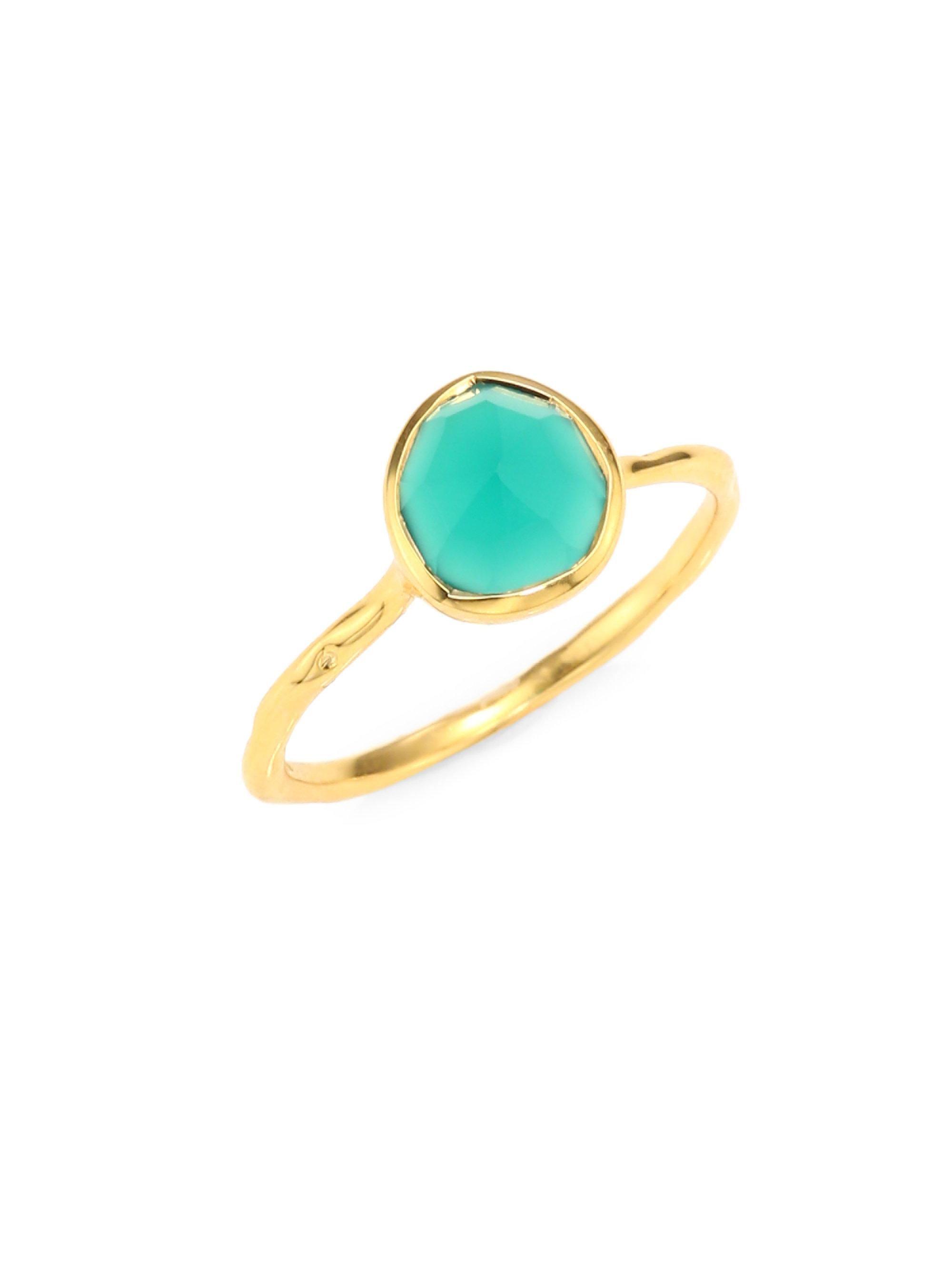 Gold Siren Small Nugget Stacking Ring Green Onyx Monica Vinader pMEC3B2M