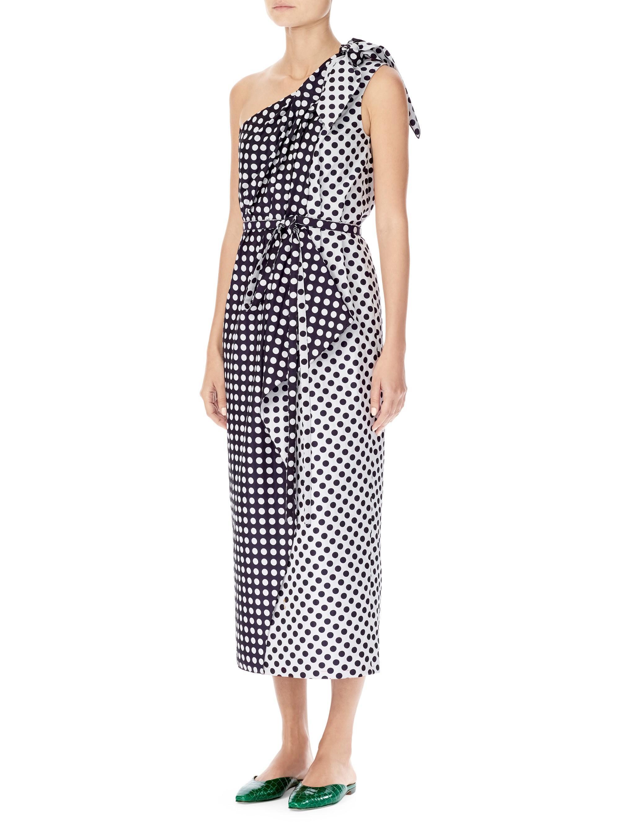 cff7b9573ad Lyst - Carolina Herrera Women s One-shoulder Polka Dot Dress ...