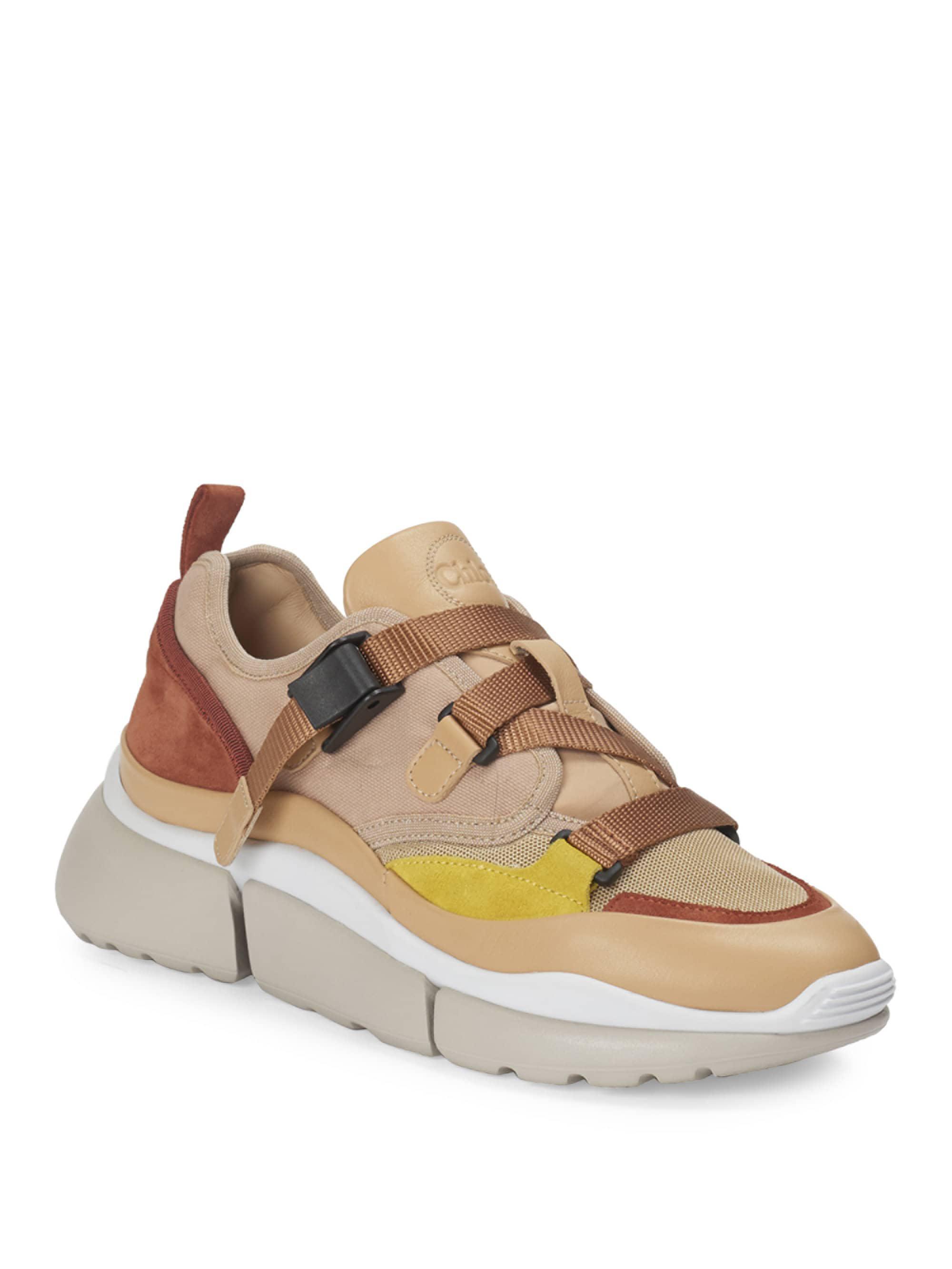 Chloé Sonnie Strappy Textile Chunky Sneakers DjgqERI8WT