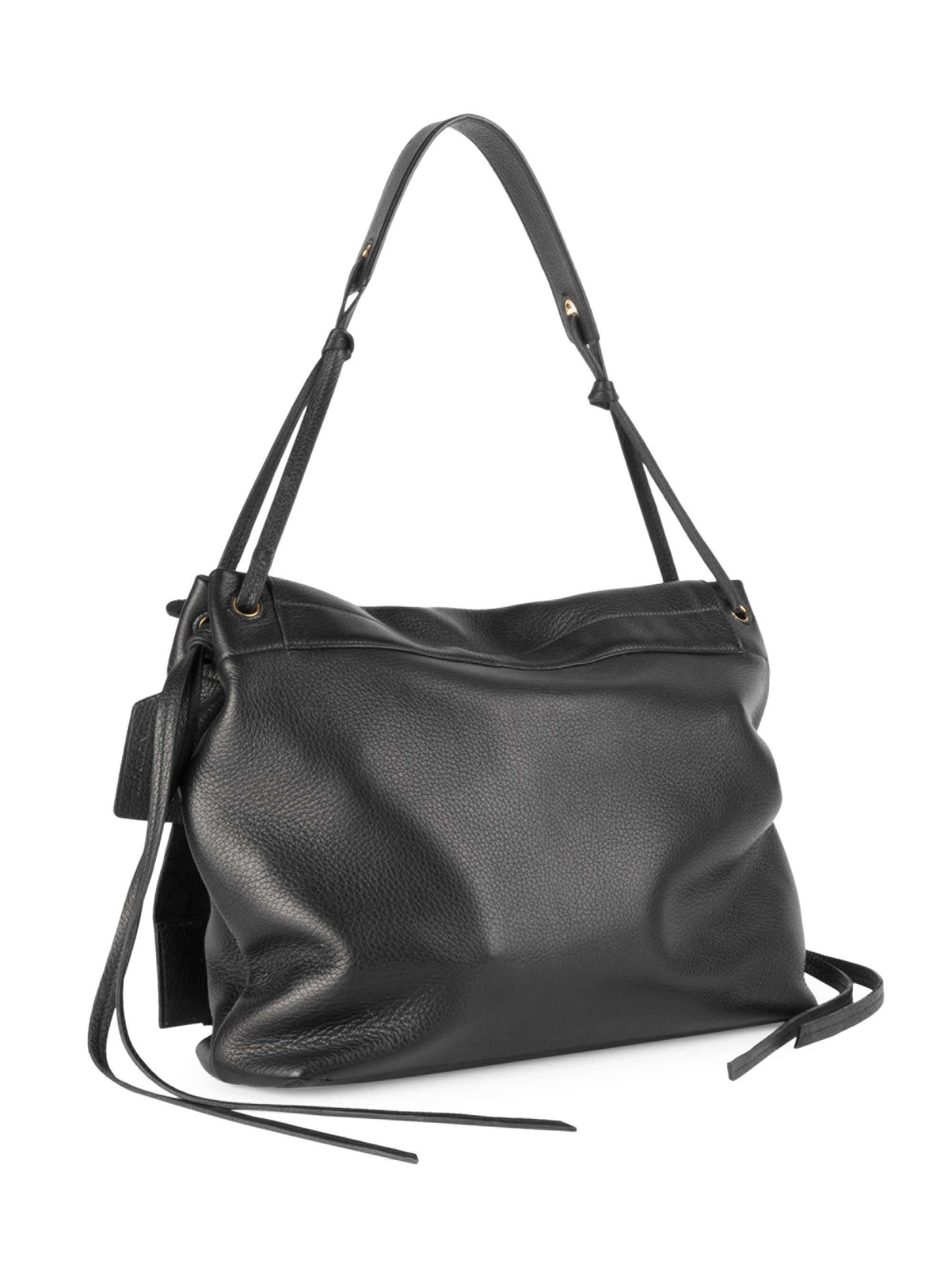 89d5af196248 Prada Cervo Leather Shoulder Bag in Black - Lyst