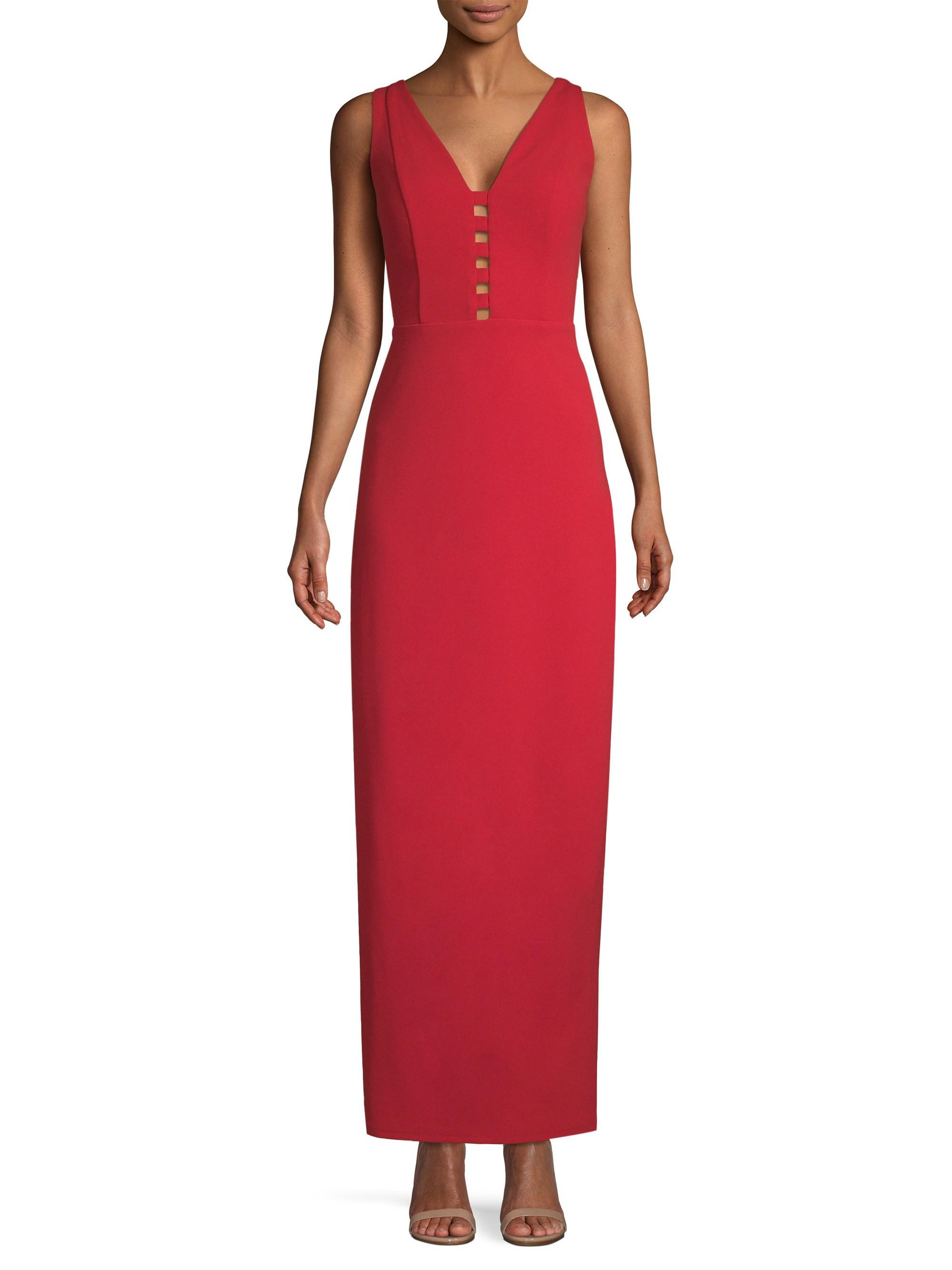 Lyst - Laundry by Shelli Segal Fitted Cut-out Crepe Gown in Red 5cf4a6b1de