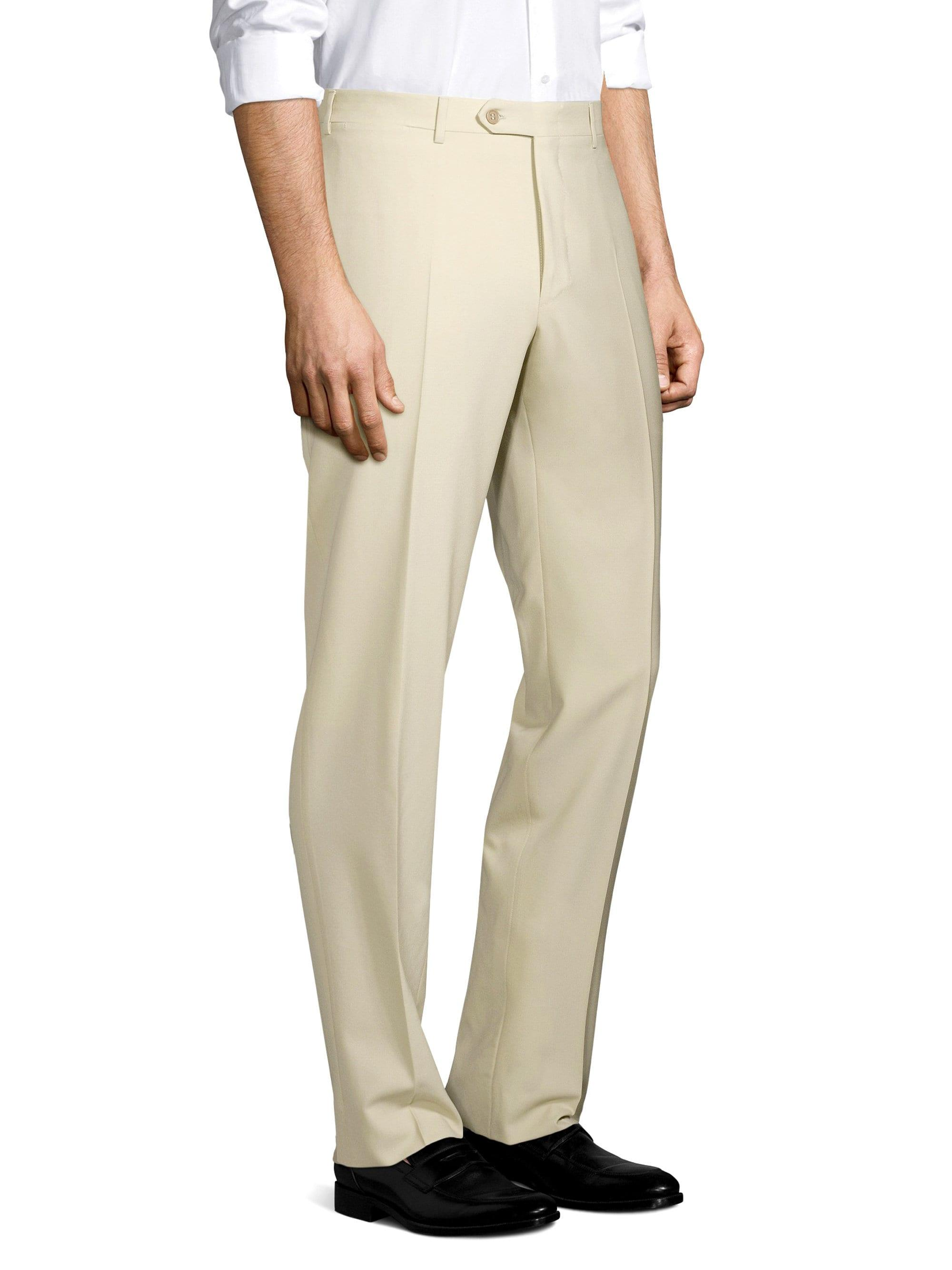e6182b9297a Canali Men's Wool Trousers - Beige - Size 50 (34) R in Natural for Men -  Lyst