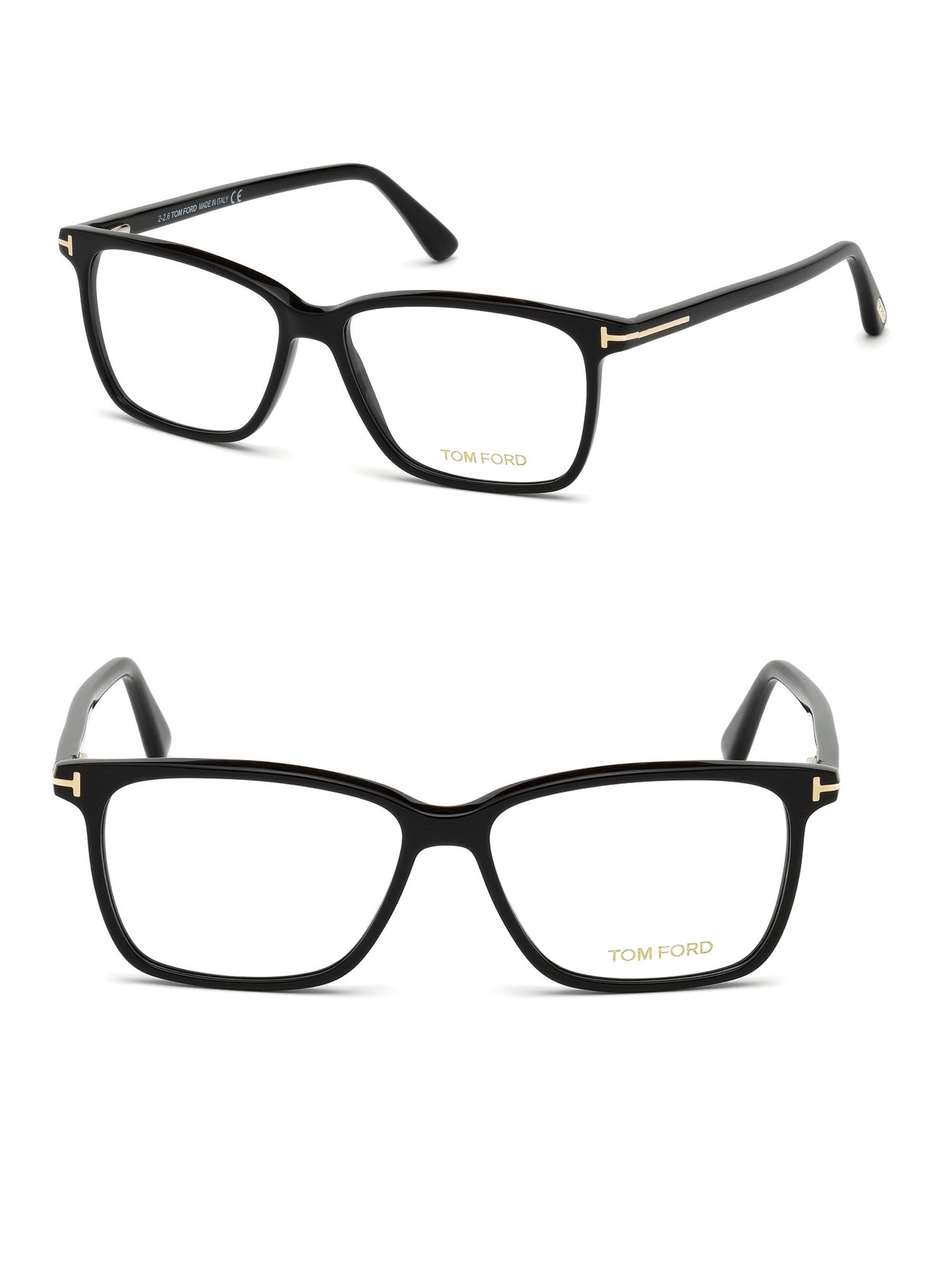 d1f26a1a88bb Lyst - Tom Ford 55mm Blue Block Optical Glasses in Black for Men