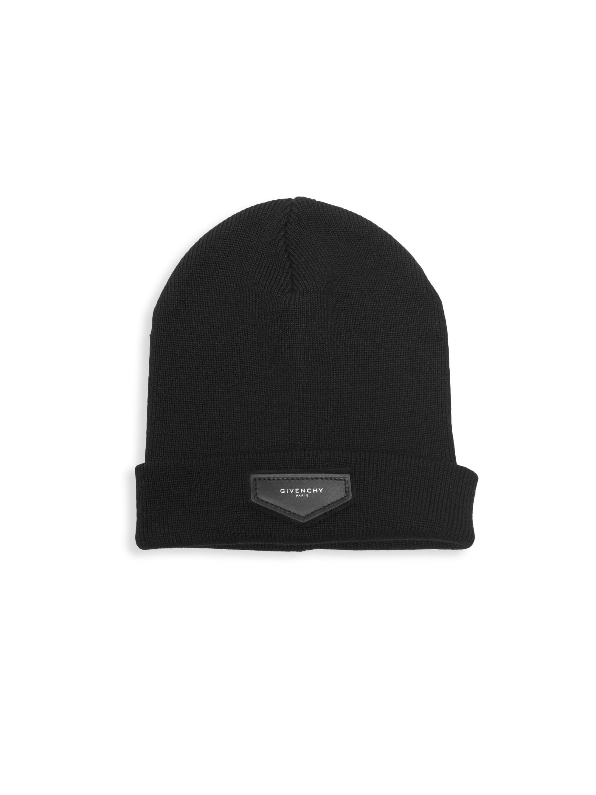 4972b6af867 Givenchy - Black Wool   Cashmere Logo Toque for Men - Lyst. View fullscreen