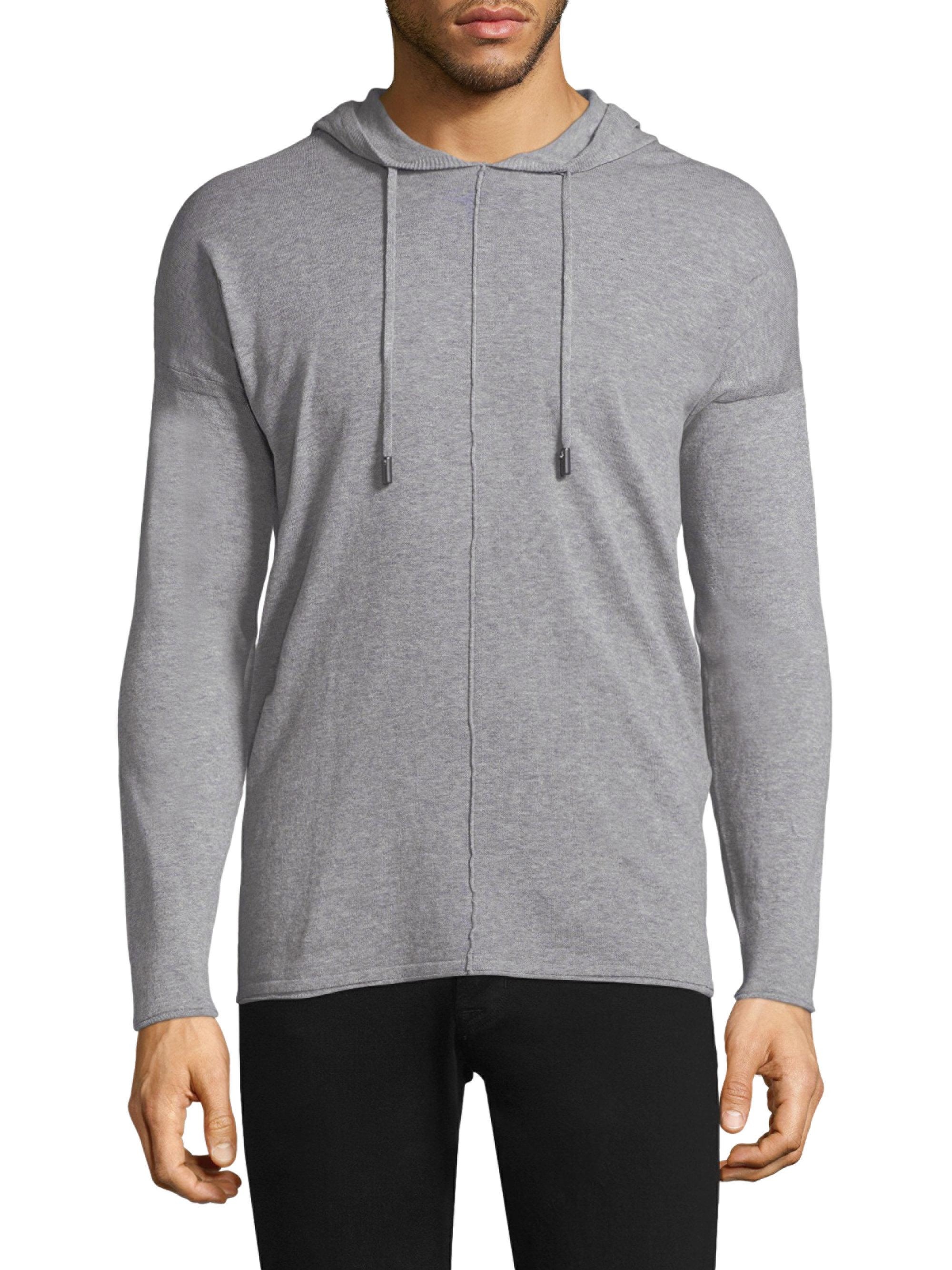 c727e3bc427 Lyst - Diesel Black Gold Mélange Hooded Sweater in Gray for Men