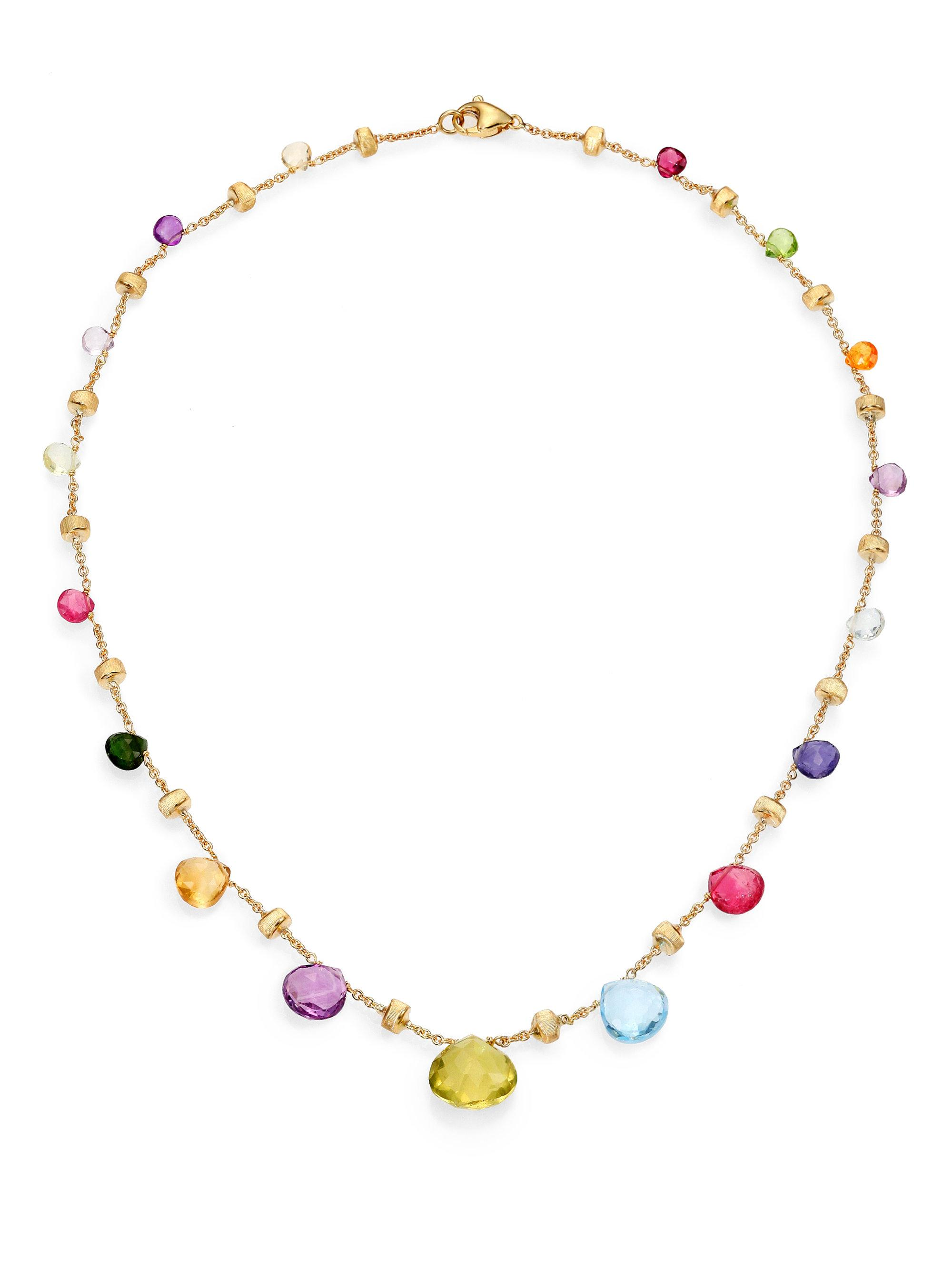 gemstone tdw pin gold signature multi yellow miadora diamond collection necklace and