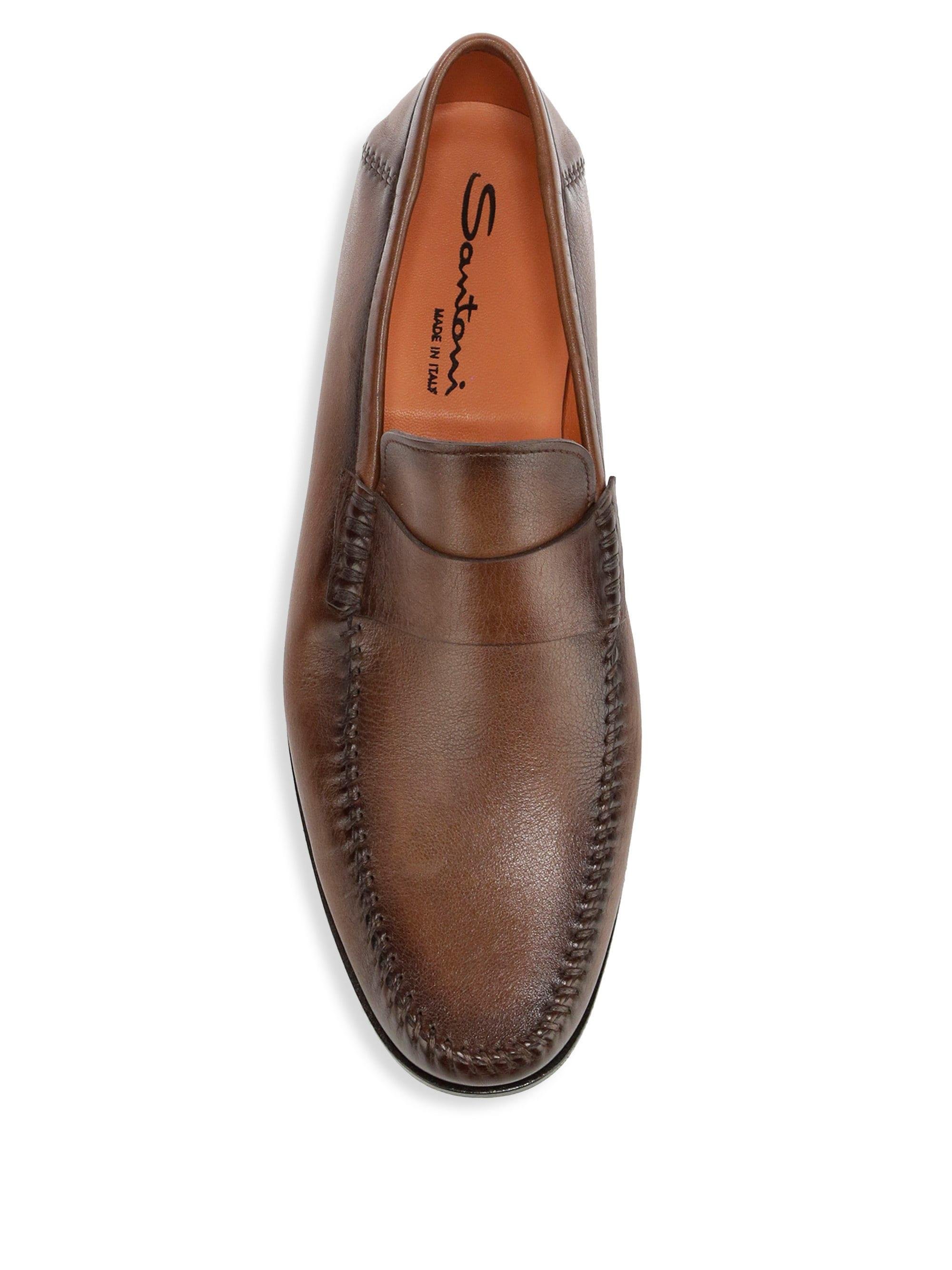 4ddfb72991d1 Santoni Men s Paine Leather Loafers - Brown - Size 11.5 D in Brown for Men  - Lyst