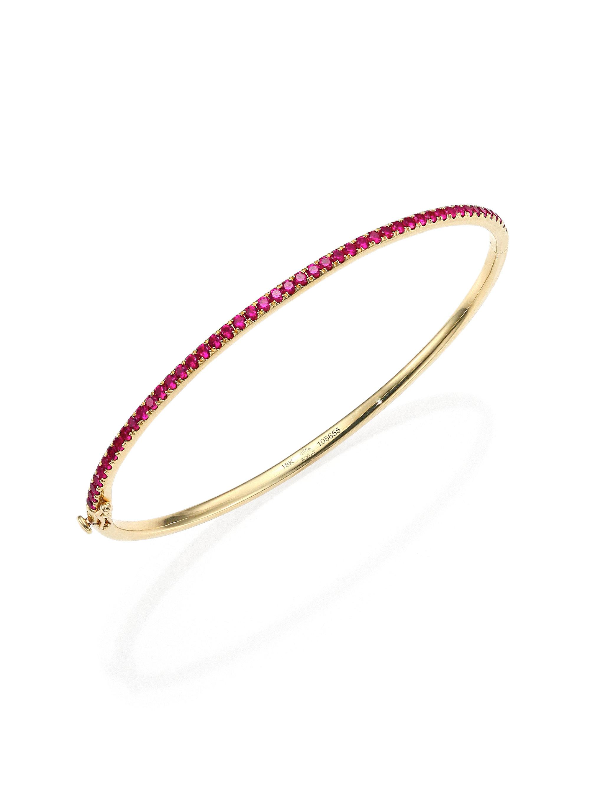 quality yellow designs pink pin bracelet qcd long sapphire gms gold color