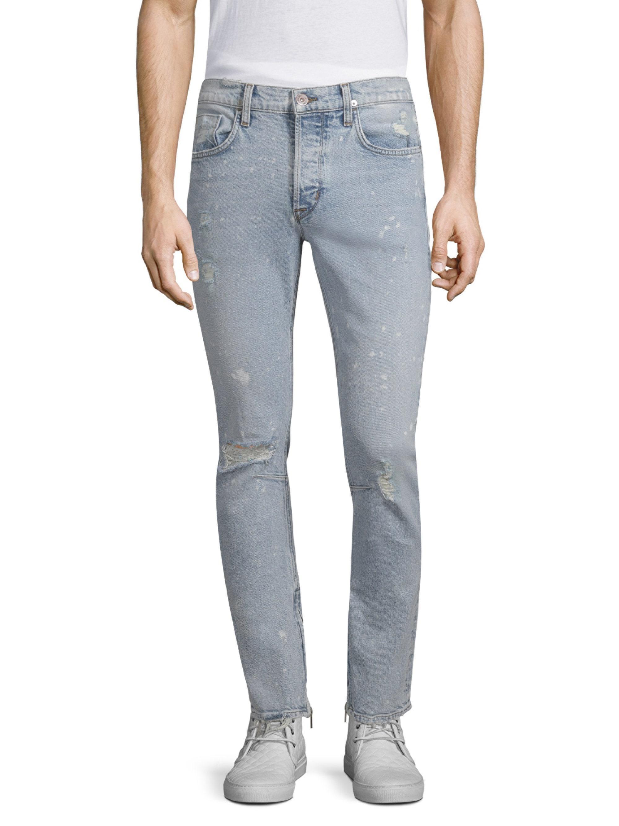 ffa57dbdd9b Lyst - Hudson Jeans Men's Vaughn Skinny Cotton Ankle Zip Jeans ...