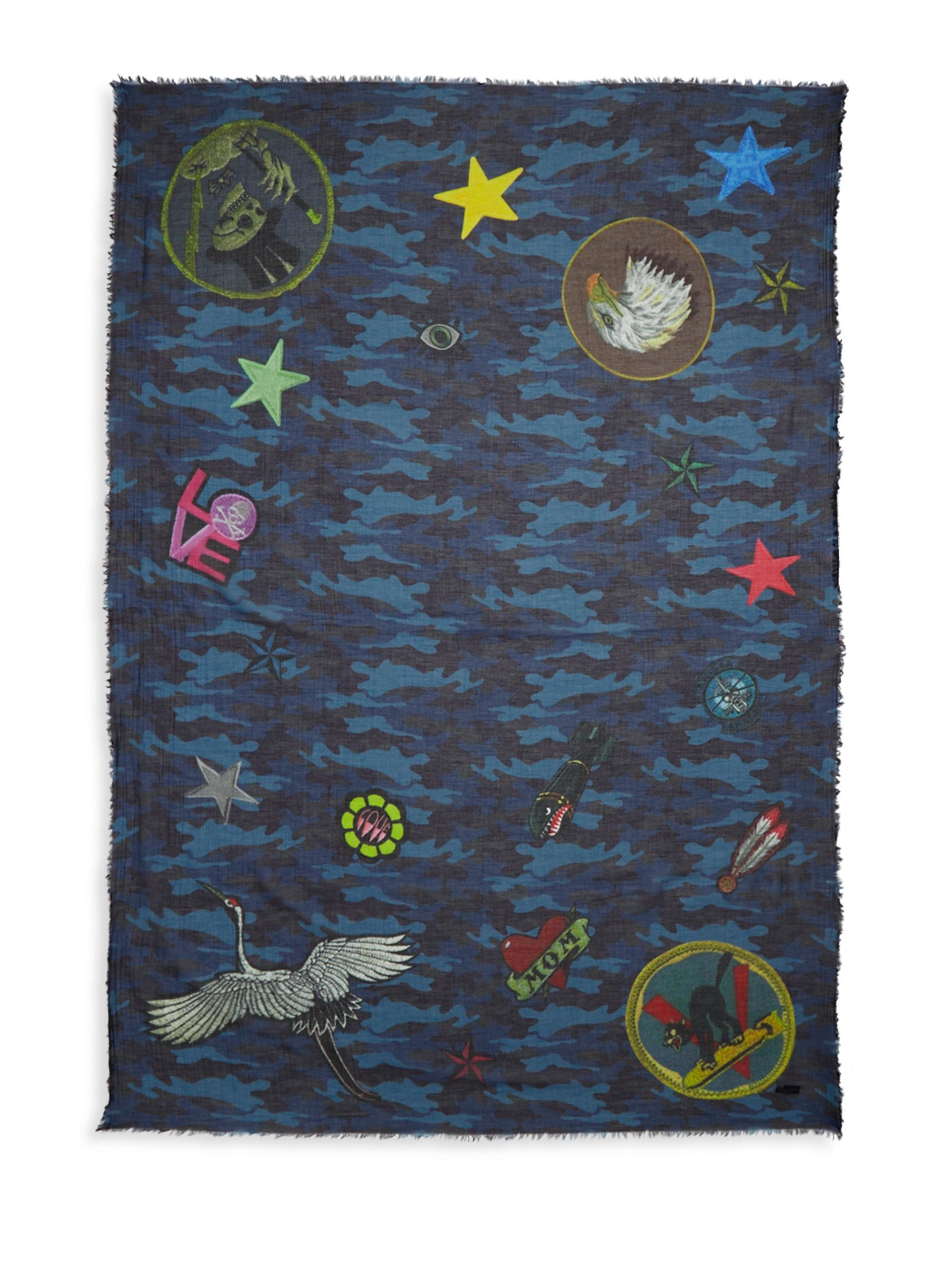 ferrari accessories splatter print normal gallery multi franco product multicolor lyst scarf
