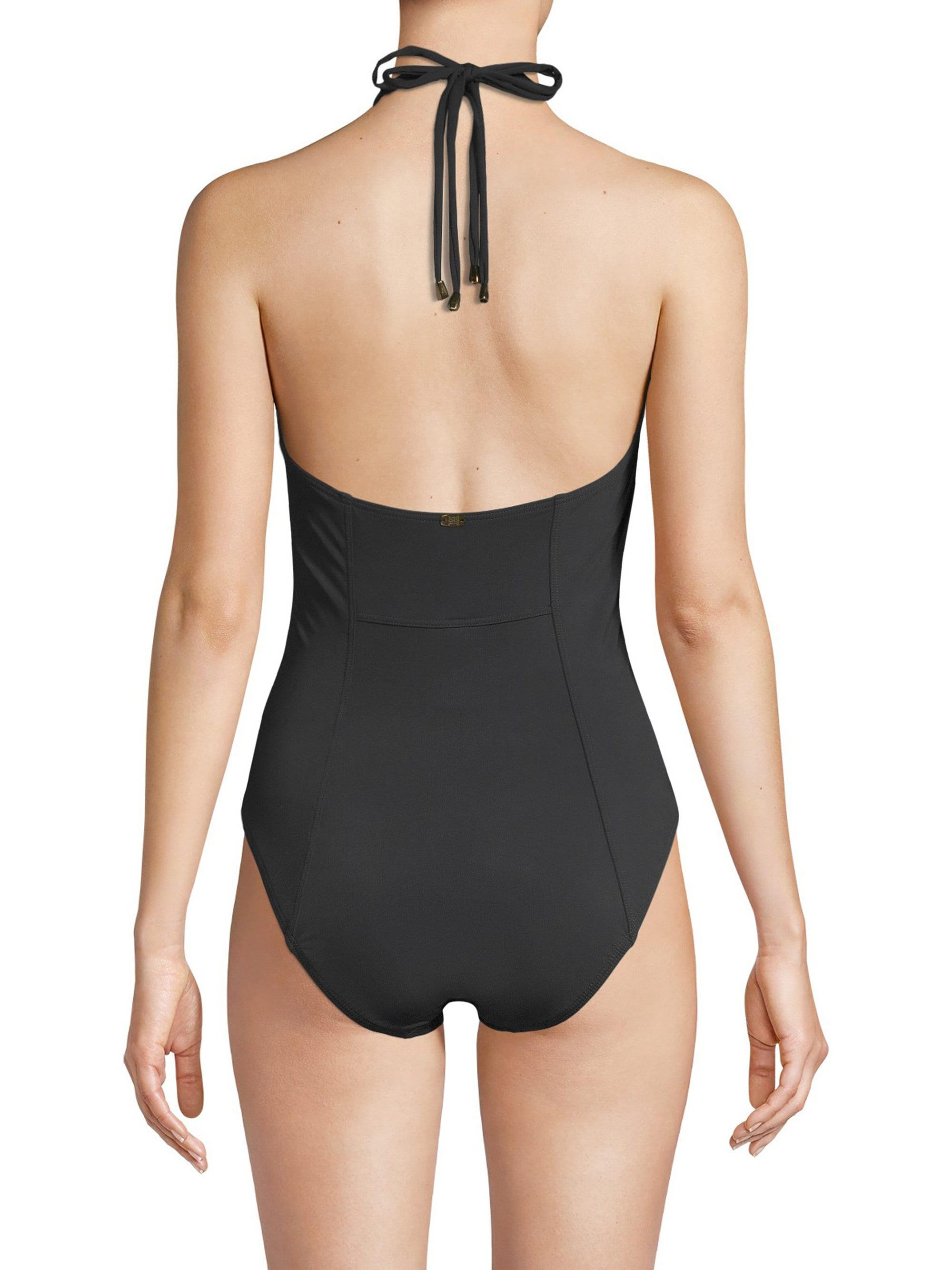 ae9ac89fd71 Lyst - Miraclesuit Women's Meridian Lyra Halter One-piece Swimsuit - Black  - Size 14 in Black