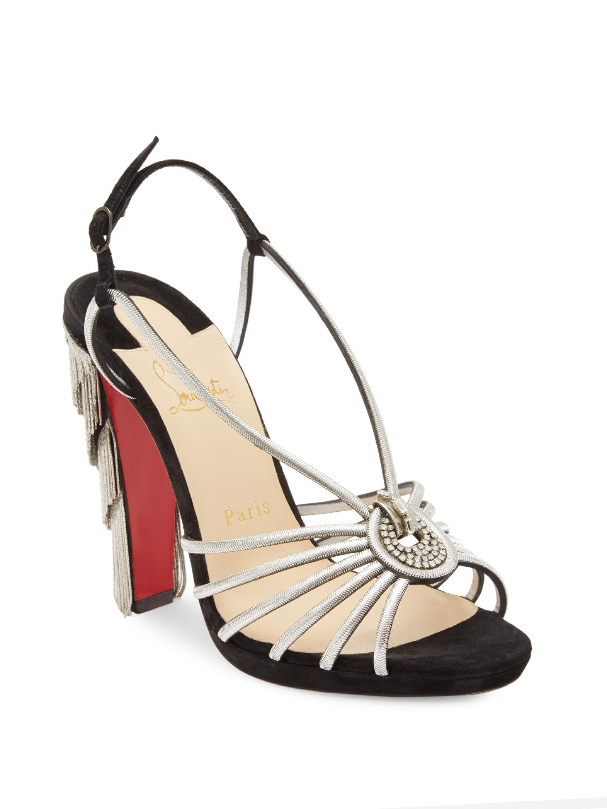 buy cheap fast delivery wide range of Christian Louboutin Snakeskin Cage Sandals 100% guaranteed free shipping sale online cheap sale geniue stockist nzzc3E