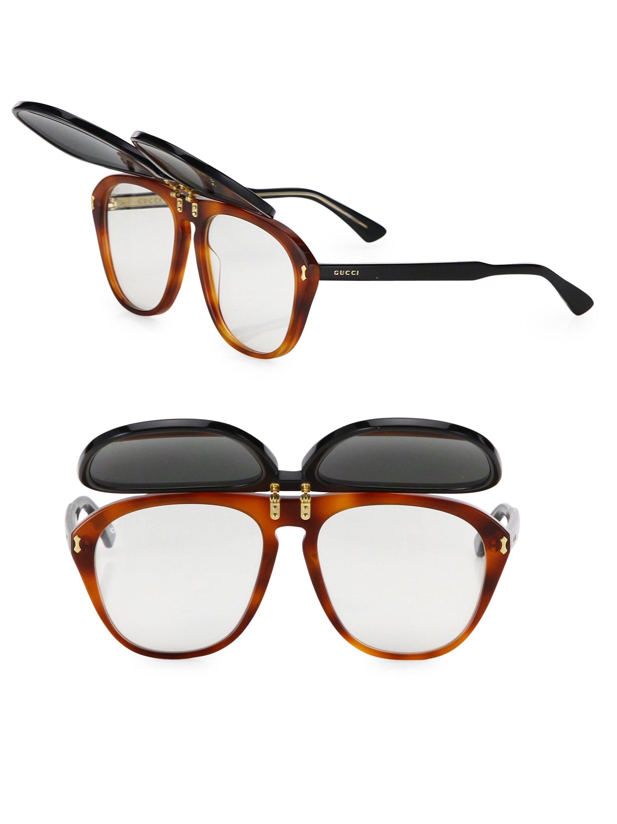 dbc82f34bb DG4268 DG4268 Source · Lyst Gucci 56mm Flip up Pilot Sunglasses in Black  for Men