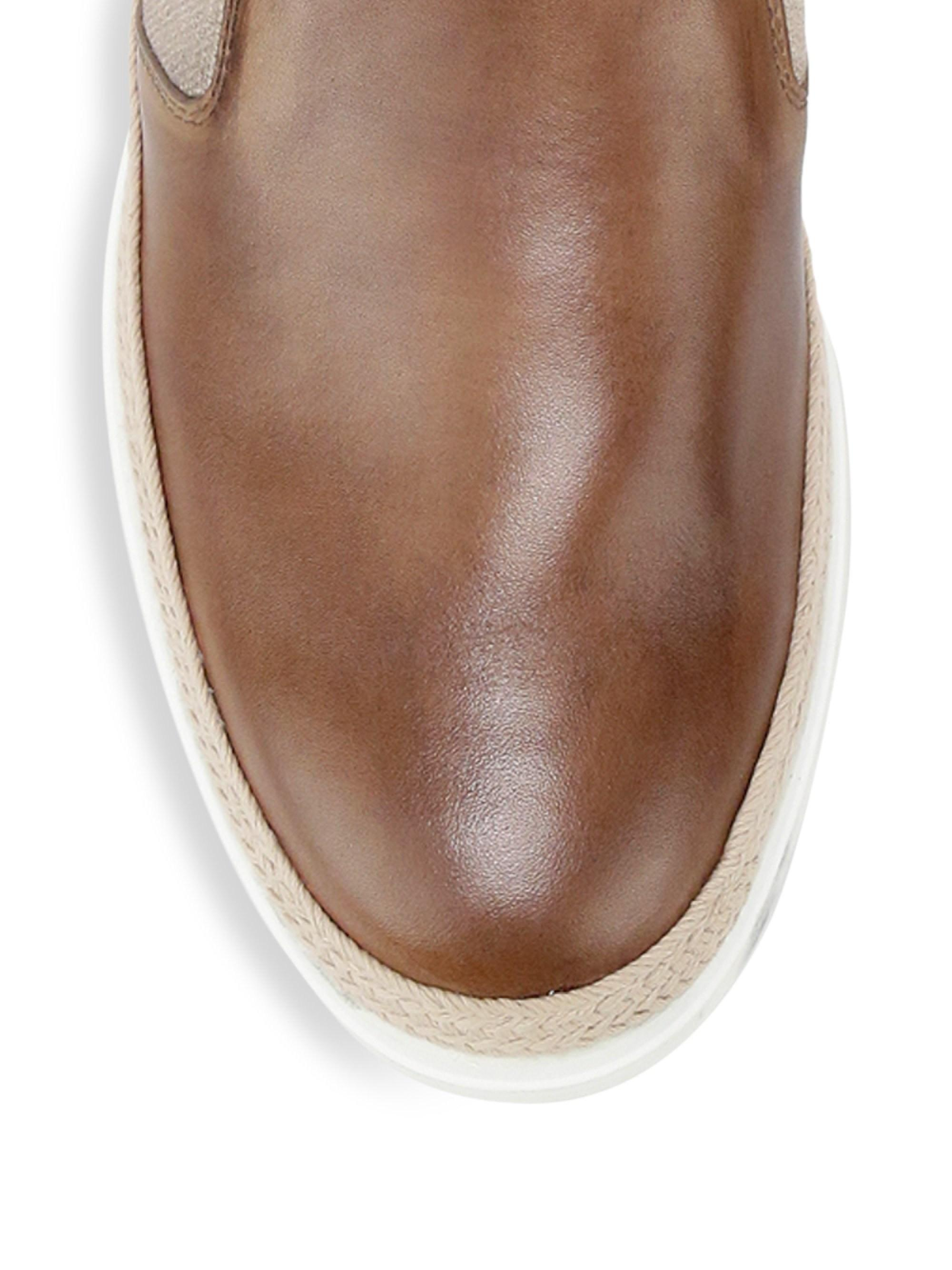 244f3f2af9a Lyst - Tod s Men s Leather Espadrille Slip-on Shoes - Caramel Brown - Size  12 Uk (13 Us) in Brown for Men