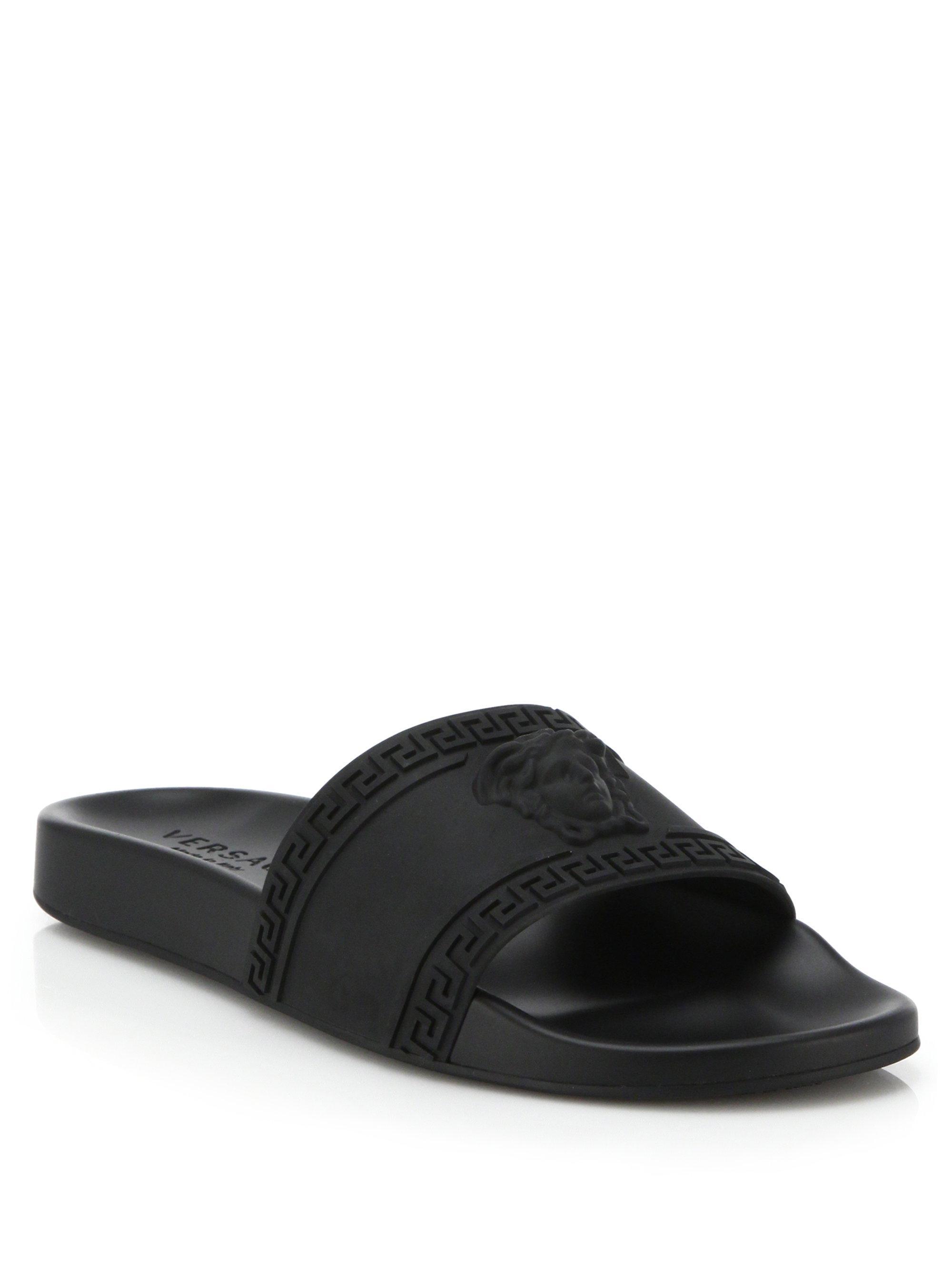 VERSACE Logo slider sandals ASF5a