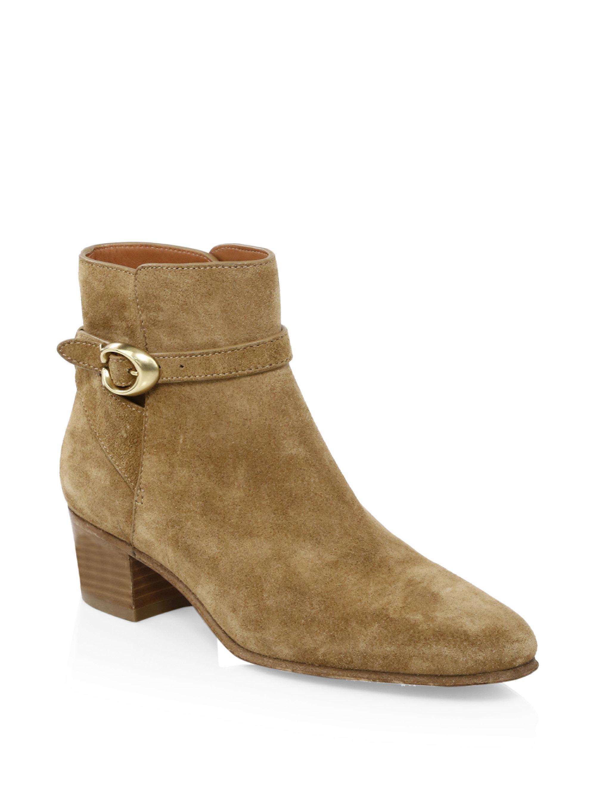 Coach CHRYSTIE - Ankle boots - peanut DcbTDWfA53